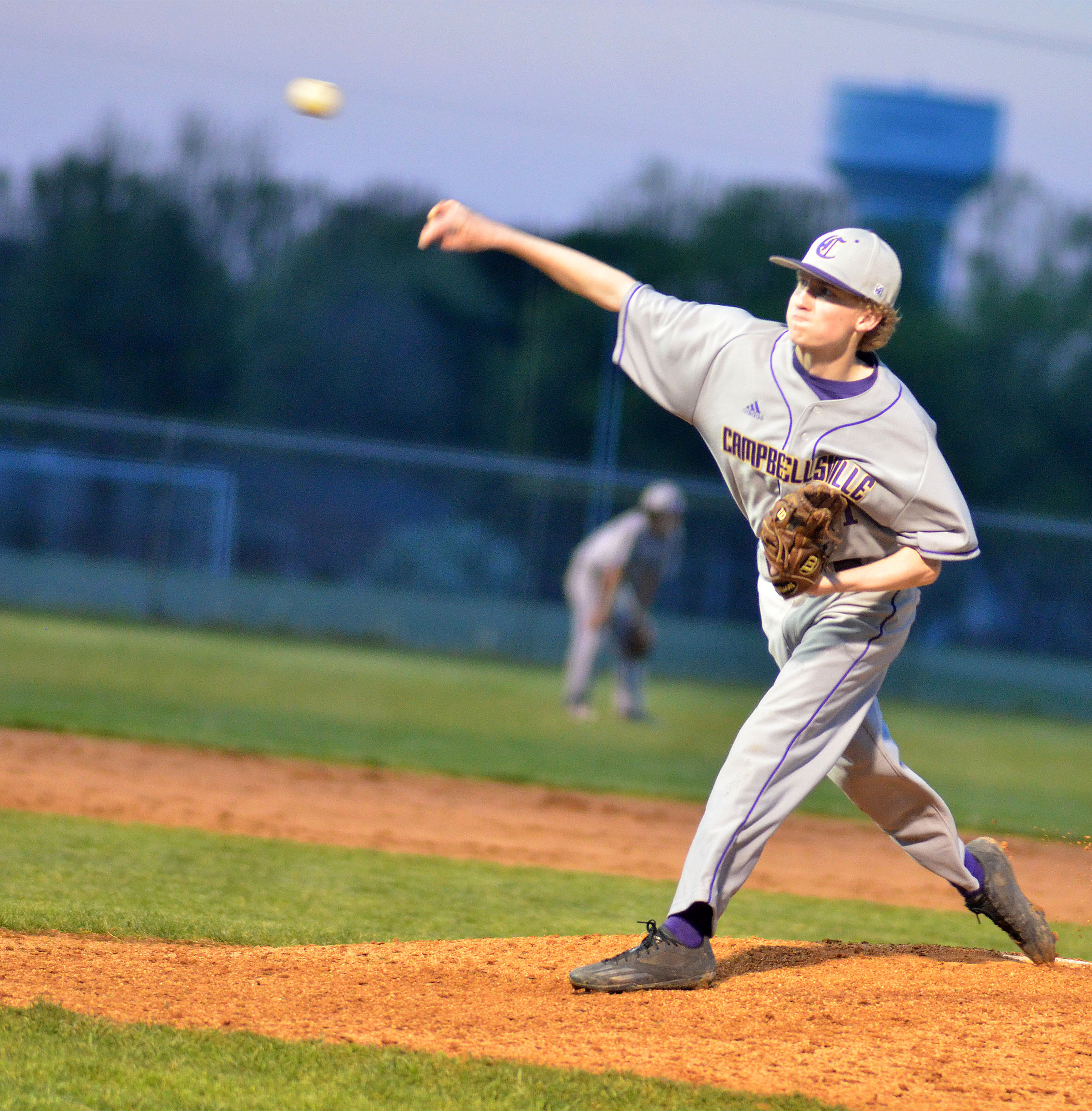 CHS sophomore Jackson Hinton throws the ball.