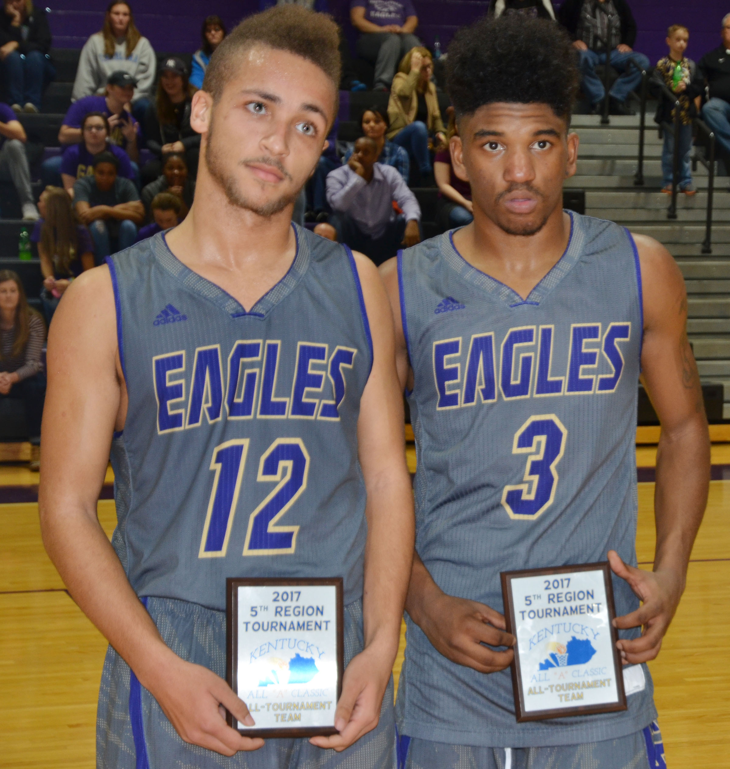 CHS juniors Ethan Lay, at left, and Tyrion Taylor were named to the all-tournament team.