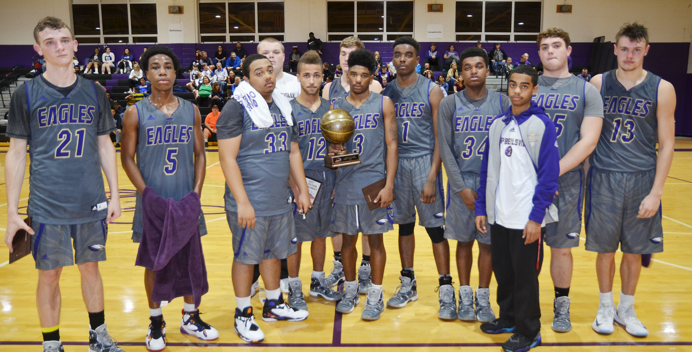 "CHS is the runner-up in this year's fifth regional All ""A"" Classic tournament. From left are junior Connor Wilson, freshman Malachi Corley, senior Ricky Smith-Cecil, juniors Toyse Cox and Ethan Lay, senior Zack Bottoms, juniors Tyrion Taylor and Chanson Atkinson, senior Darius Bell, sophomore Davon Cecil, sophomore Lane Bottoms and junior Logan Cole."