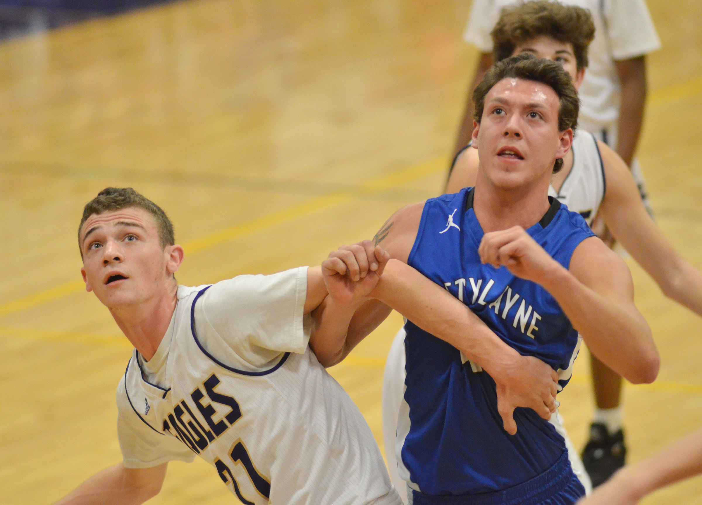 CHS junior Connor Wilson blocks a Betsy Layne defender.