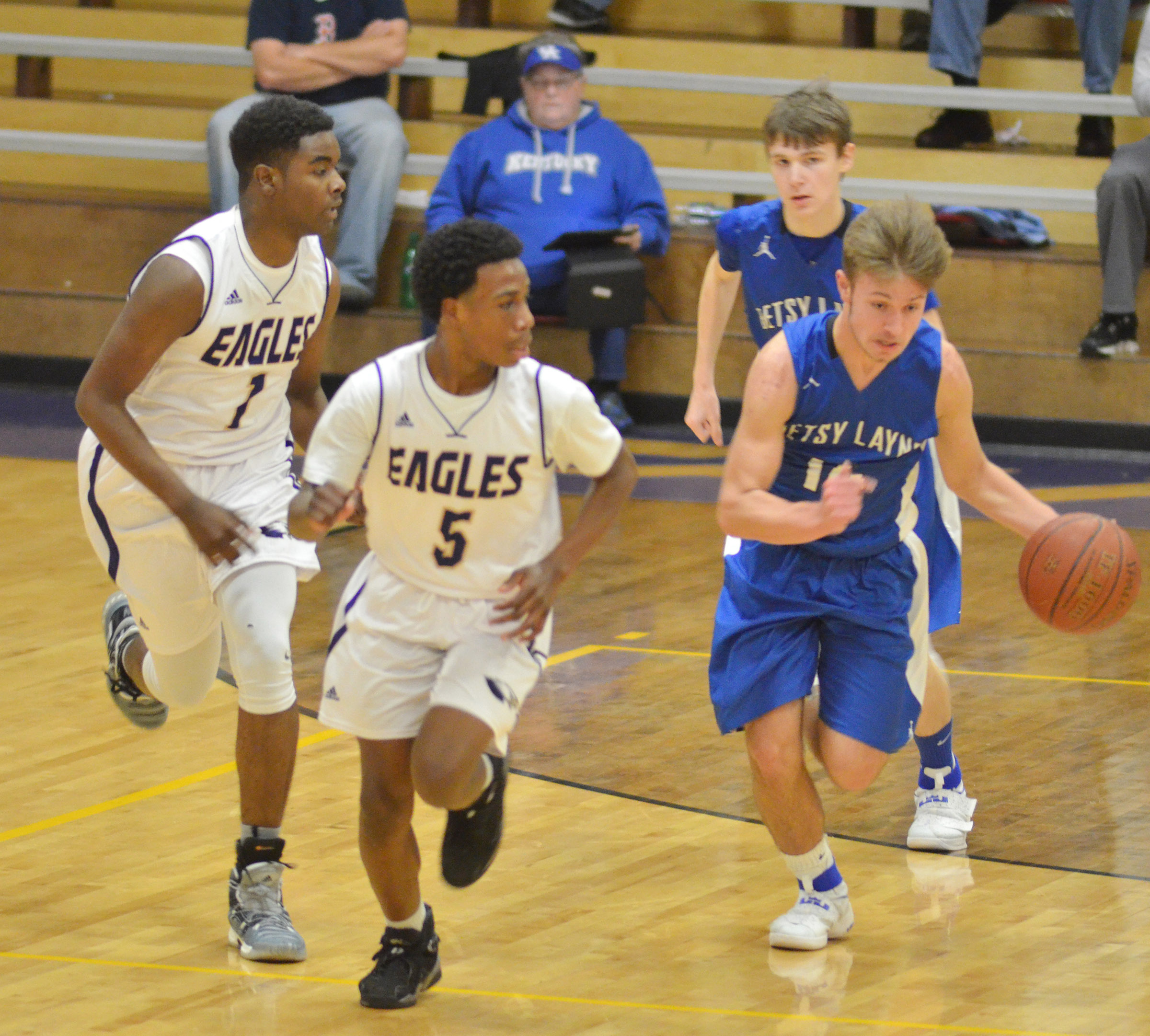 CHS junior Chanson Atkinson, at left, and freshman Malachi Corley play defense.