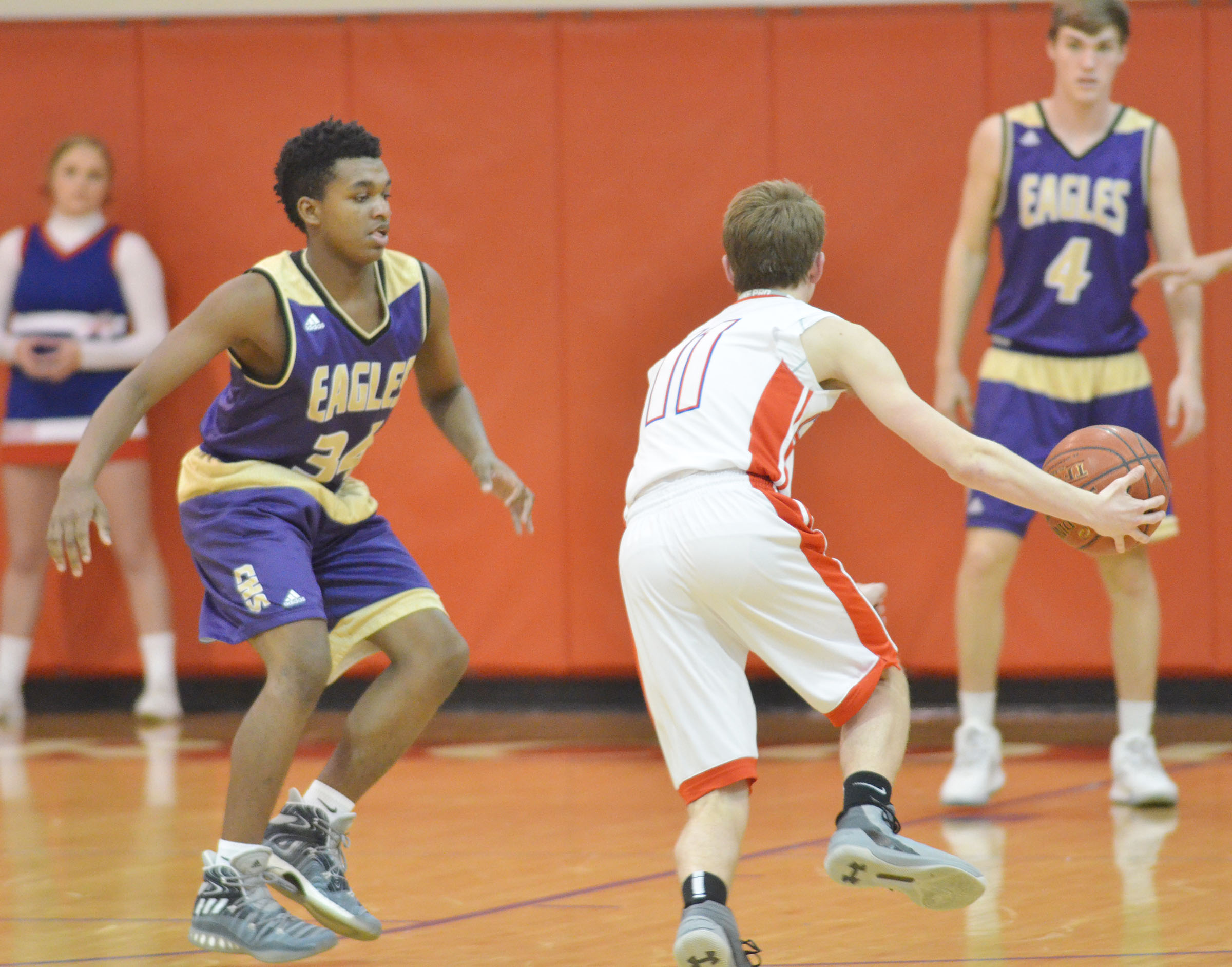CHS senior Darius Bell plays defense.