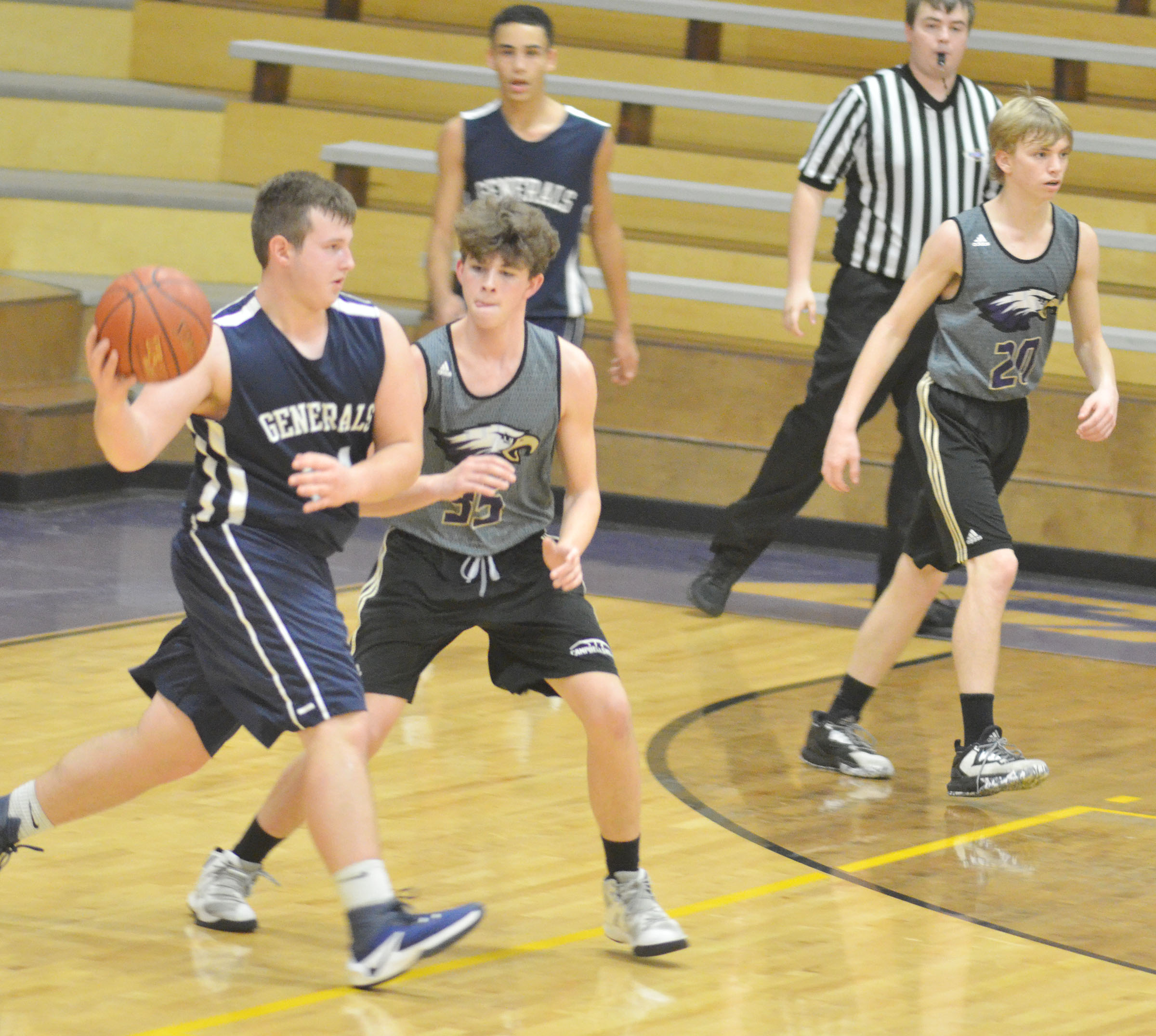 CHS freshman Mark Rigsby plays defense.