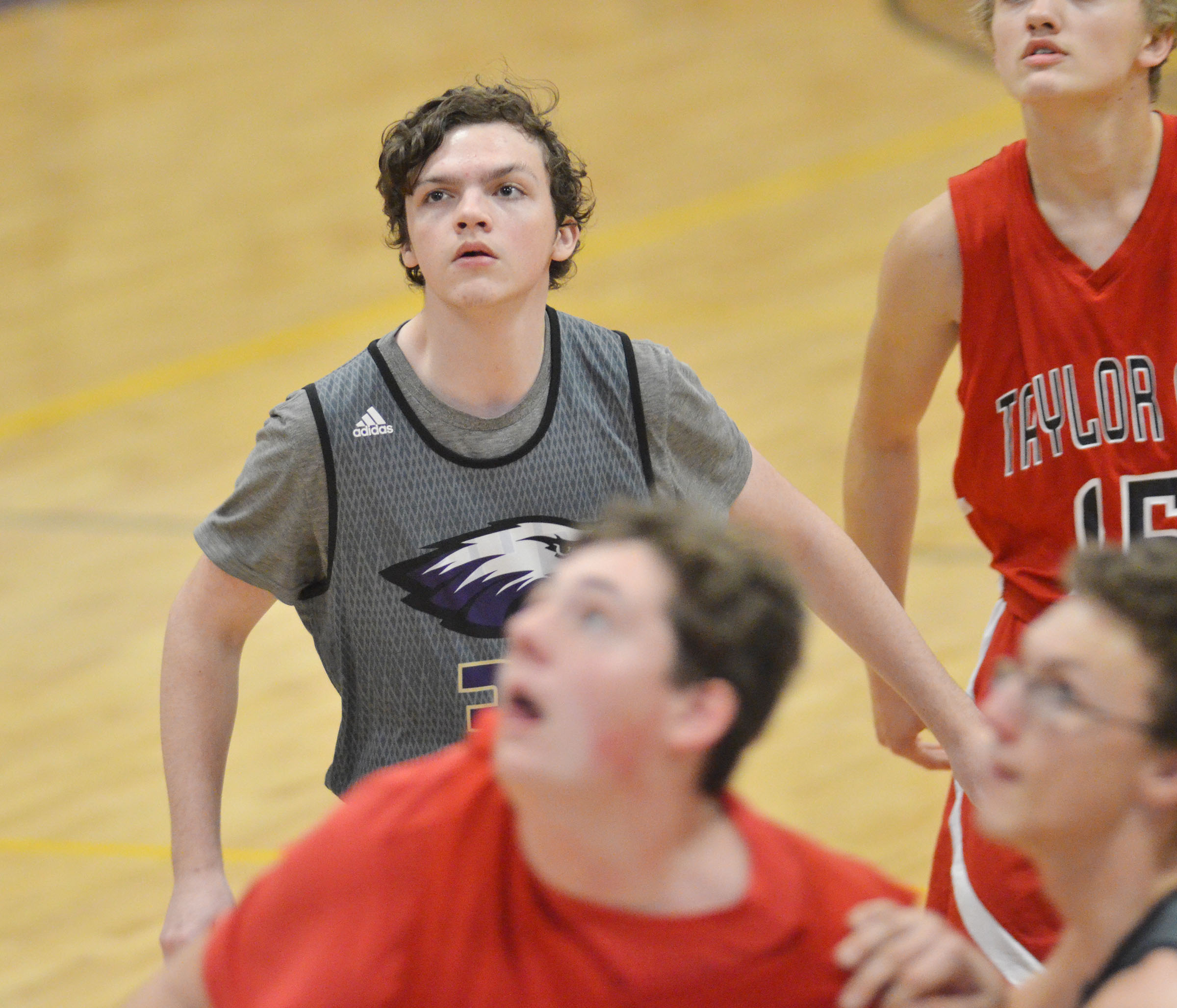 CHS freshman Jimmy Russell looks for a rebound.