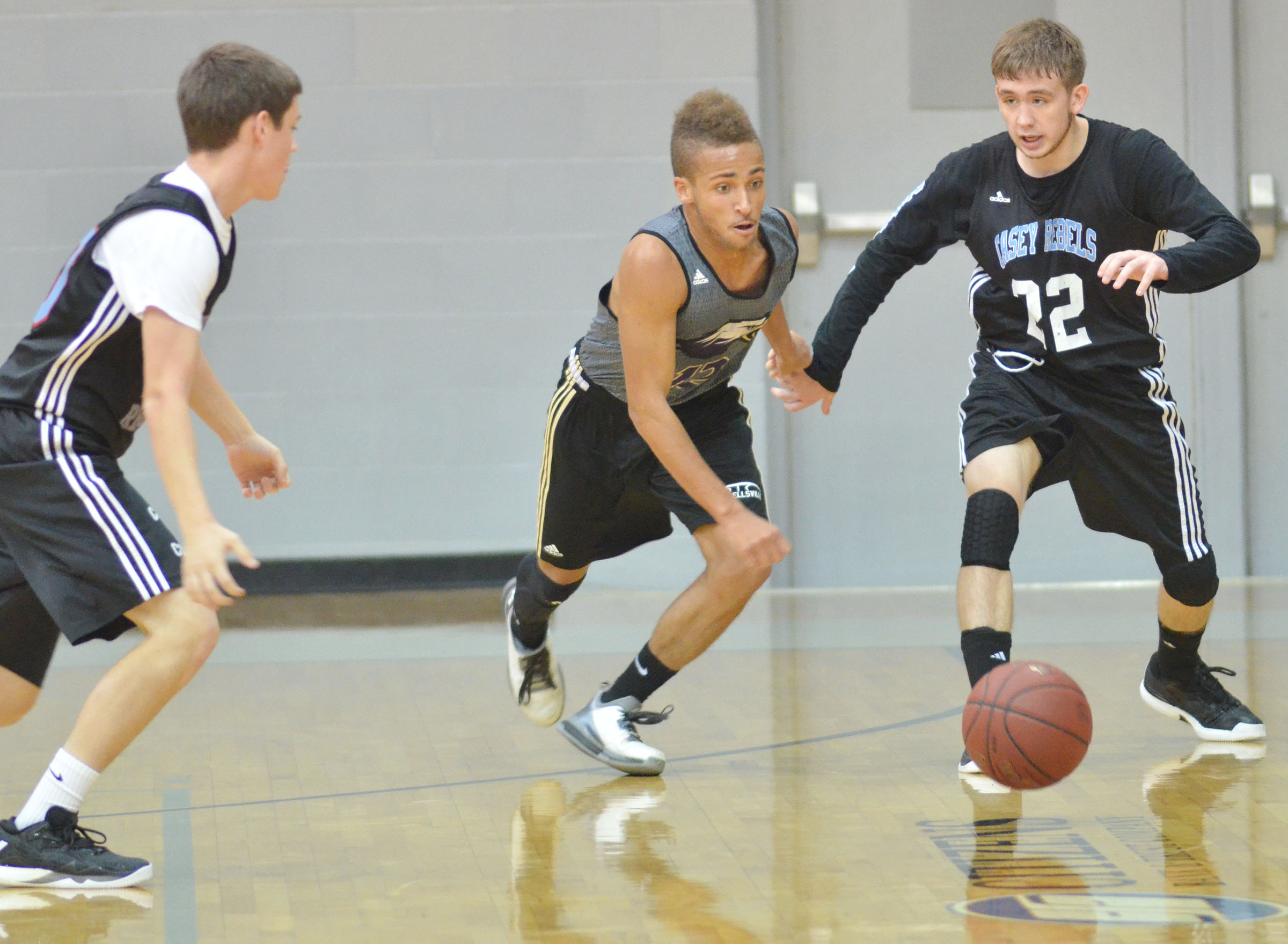 CHS junior Ethan Lay battles for the ball.