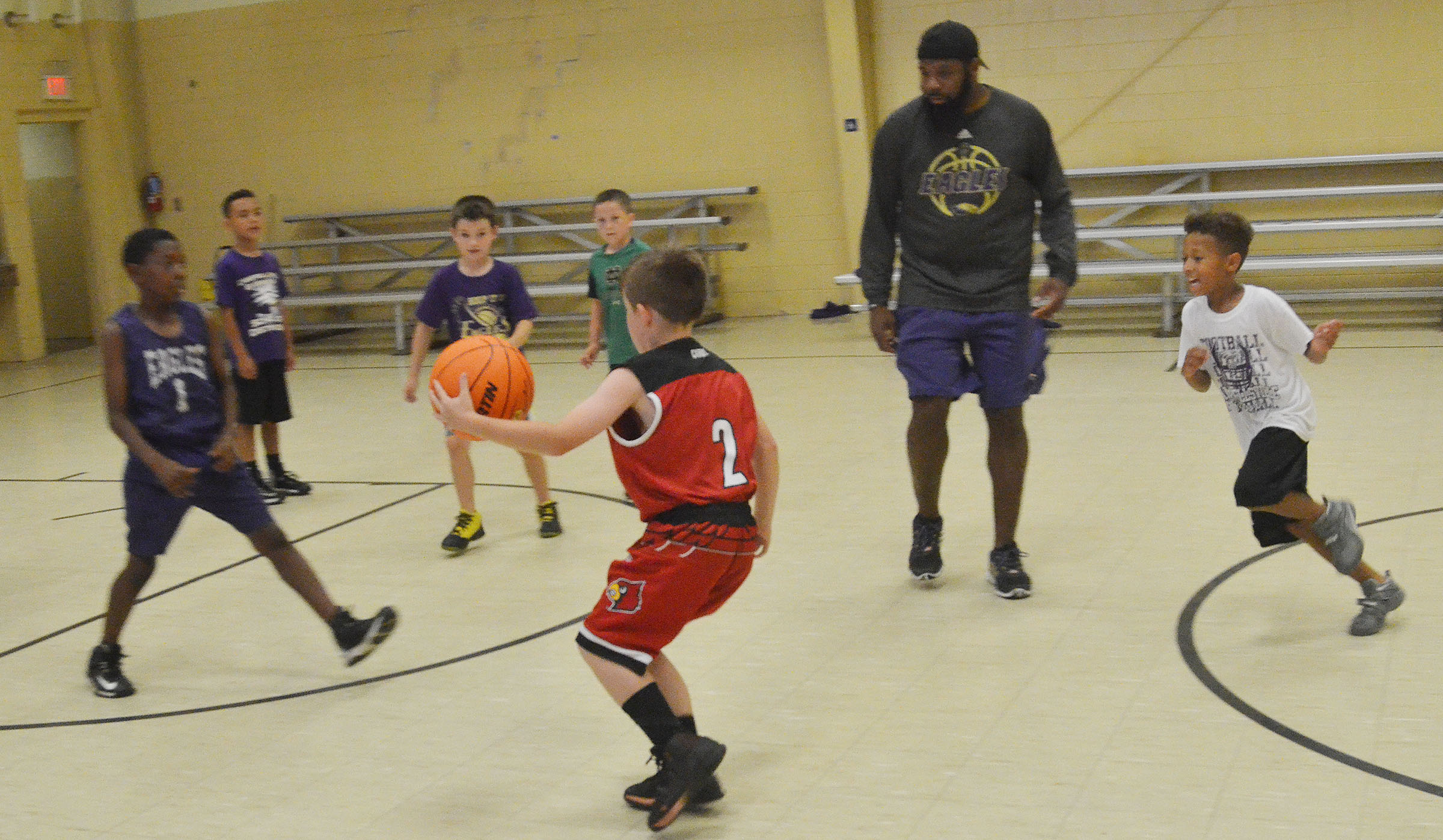 ABA campers play five-on-five.