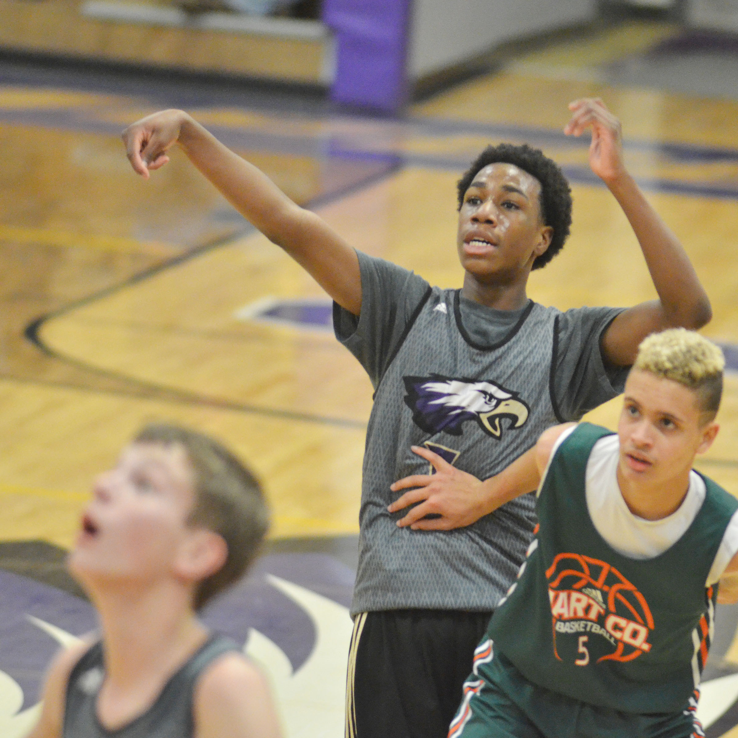 CHS freshman Malachi Corley shoots the ball.