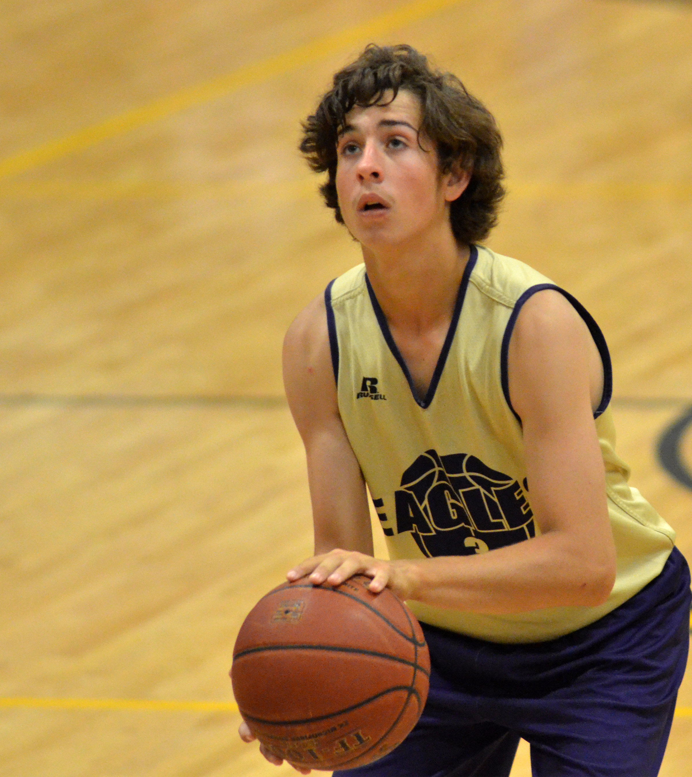 CHS freshman John Orberson shoots the ball.
