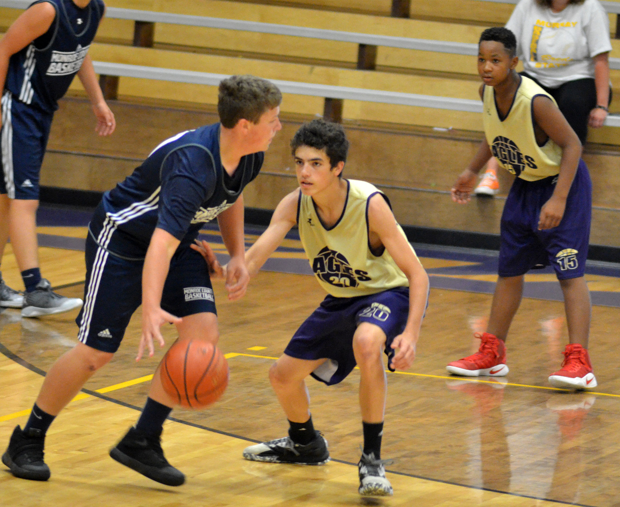 CHS freshman Kameron Smith plays defense.