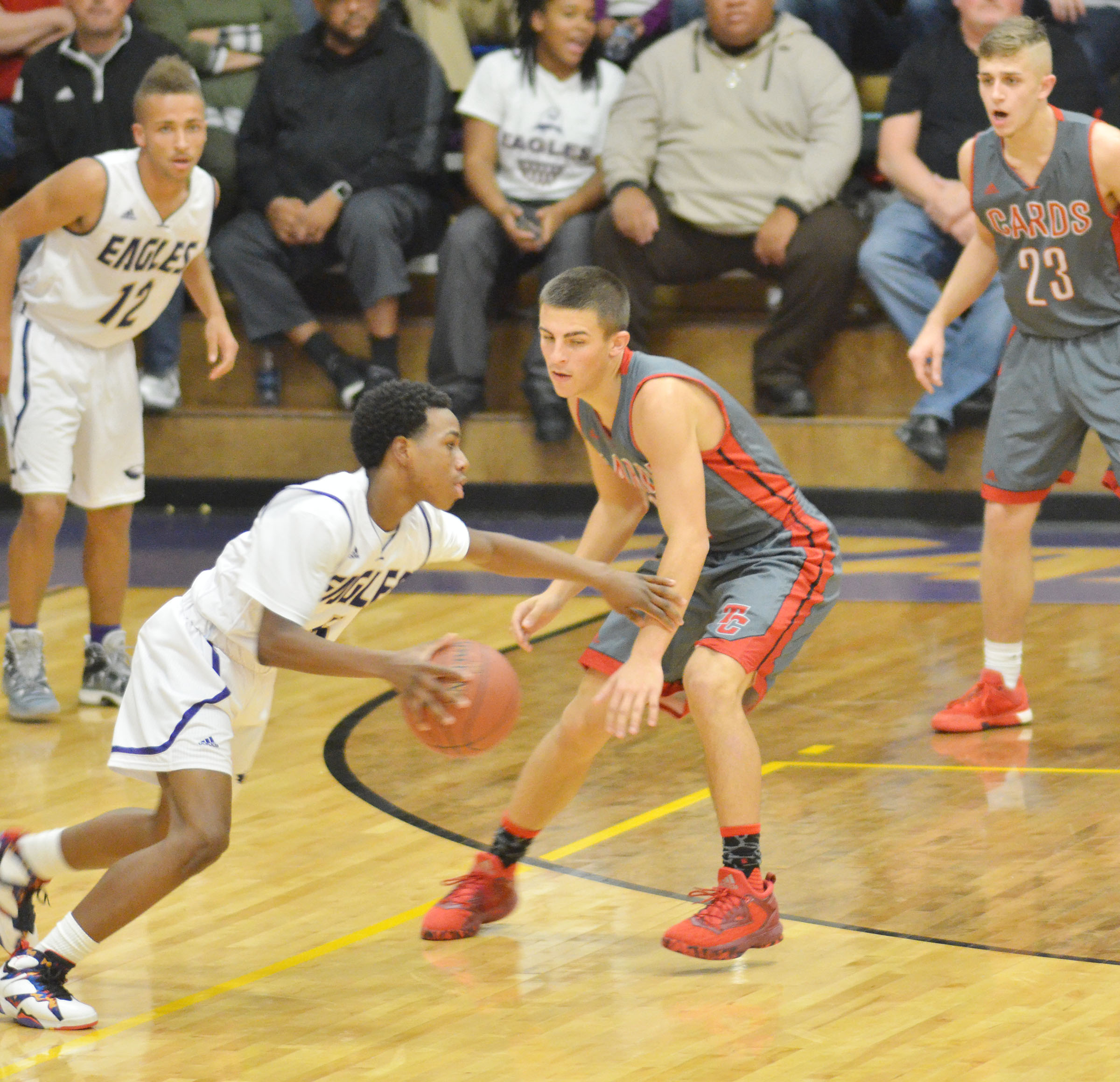 CHs freshman Malachi Corley drives the ball.