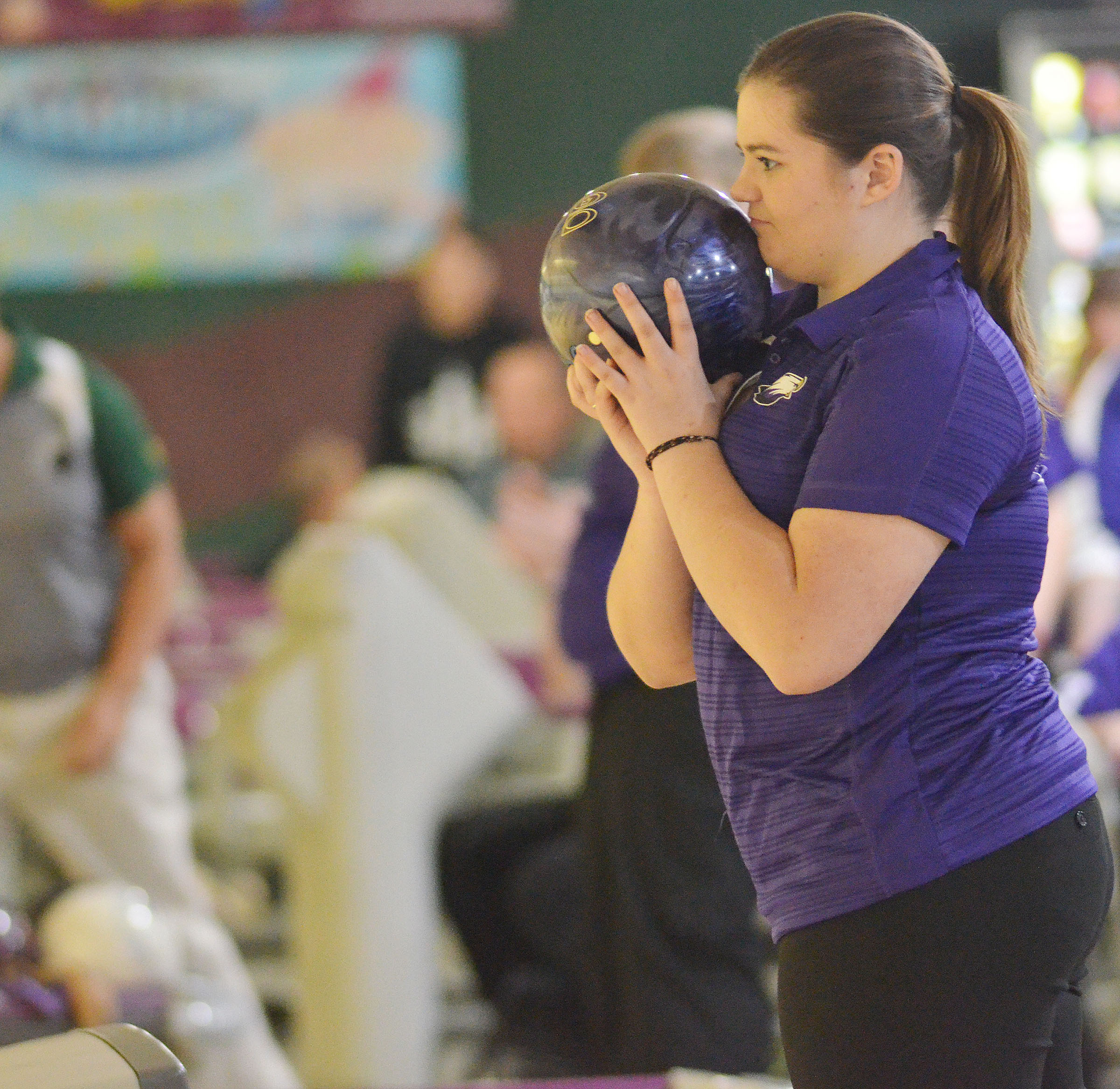 CHS junior Vivian Brown gets ready to bowl.
