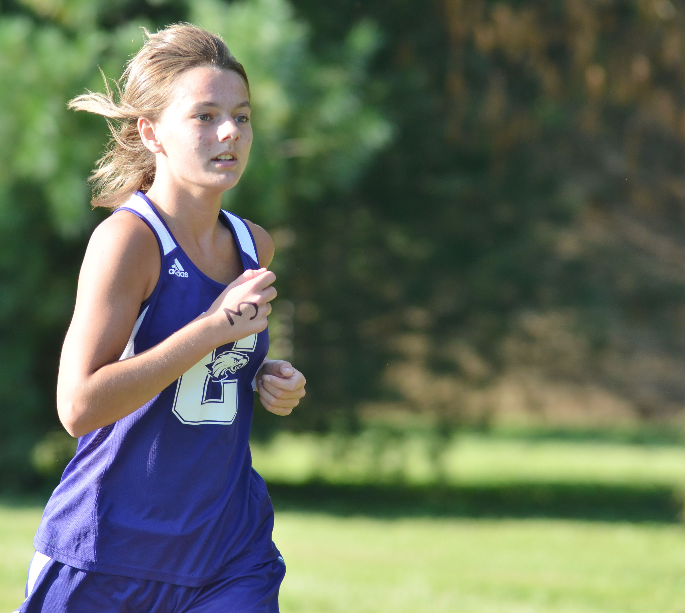 CHS senior Kyrsten Hill was the top finisher for her team at the Heartland Athletic Conference meet on Thursday, Oct. 13. She was named to the conference all-runner team.