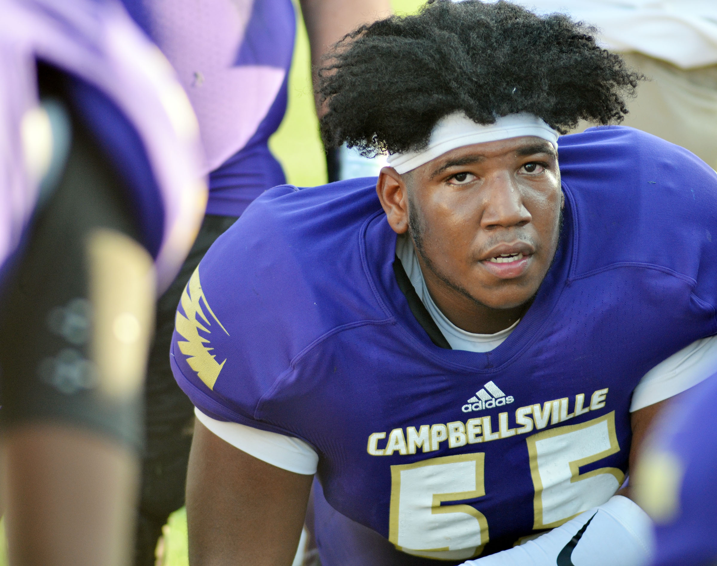 Campbellsville High School senior Micah Corley, No. 55 for the Eagles, will play for the Kentucky team in the Kentucky vs. Tennessee Border Bowl X on Saturday, Jan. 21, in Gatlinburg, Tenn.