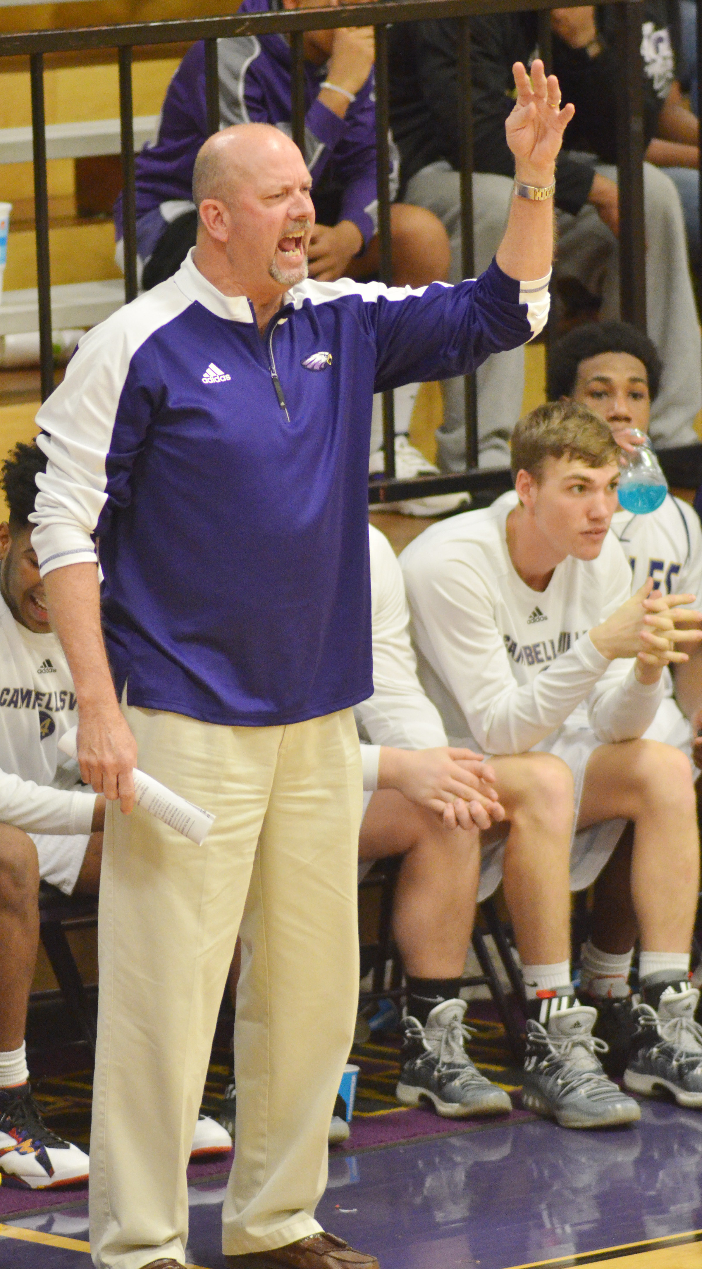 Campbellsville High School boys' head basketball coach and athletic director Tim Davis will soon be inducted into the National High School Athletic Coaches Association Hall of Fame for his longevity and service to high school athletics.