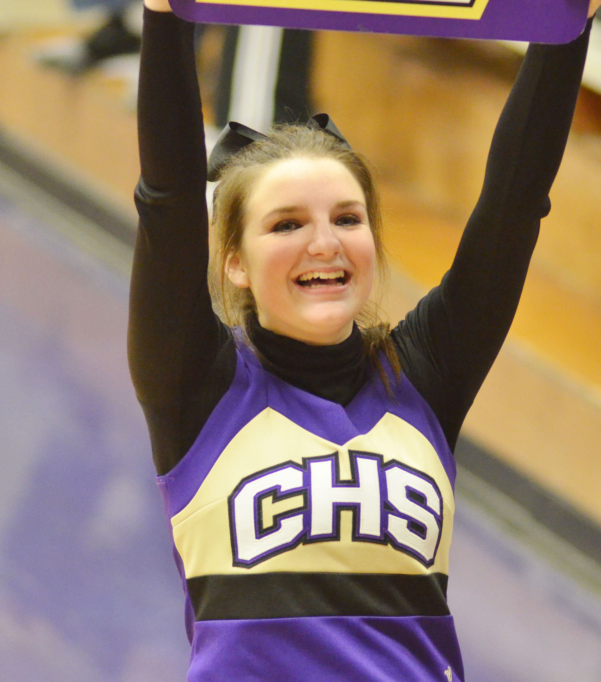 CHS freshman Sydney Wilson cheers for the Eagles.