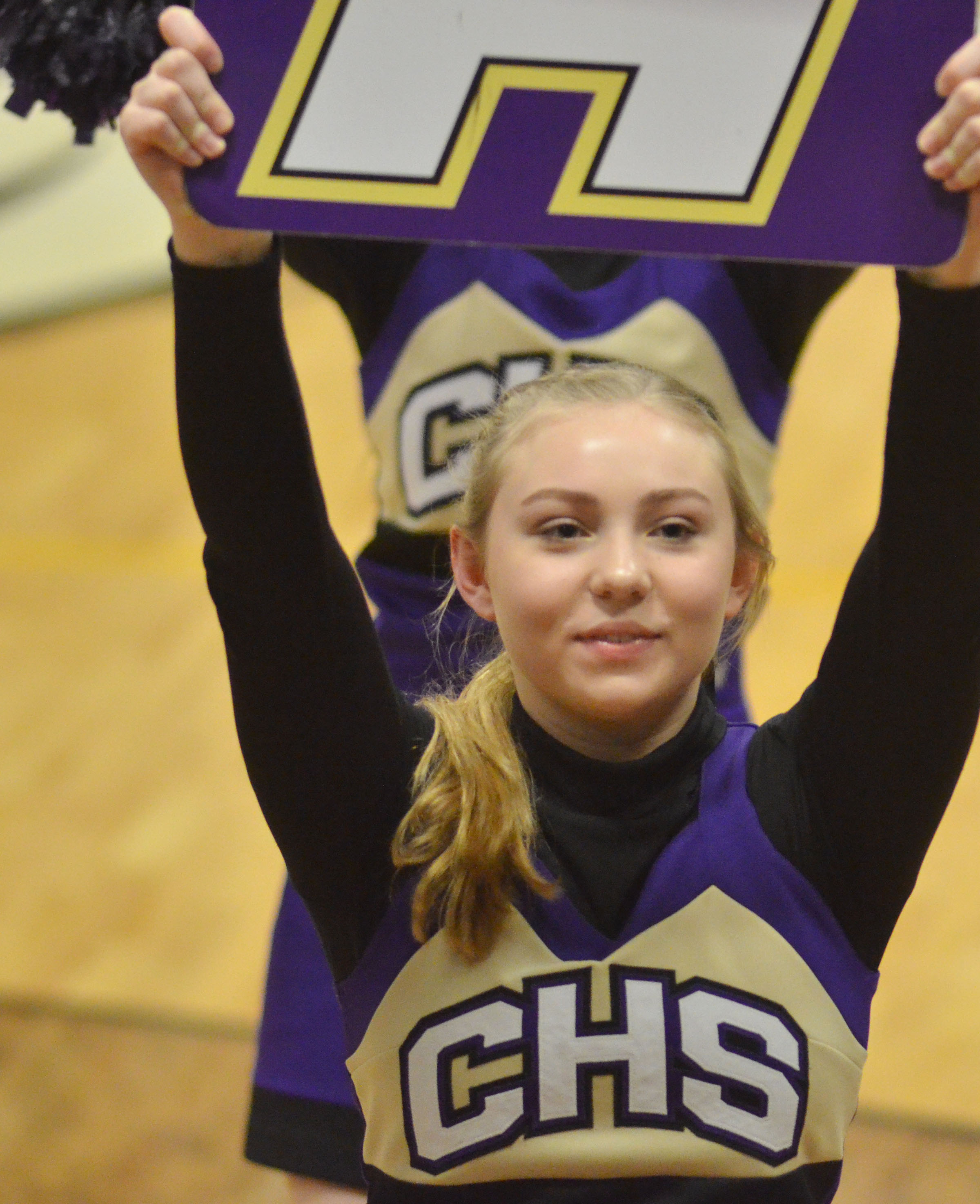CHS freshman Bailey Smith cheers for the Eagles.
