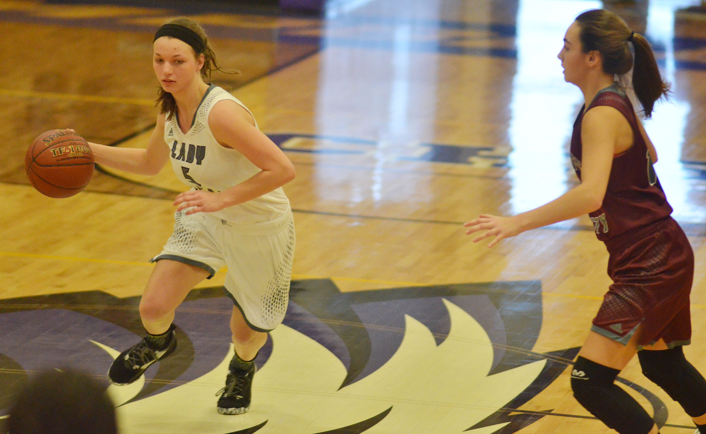 CHS senior Caylie Blair dribbles to the basket.