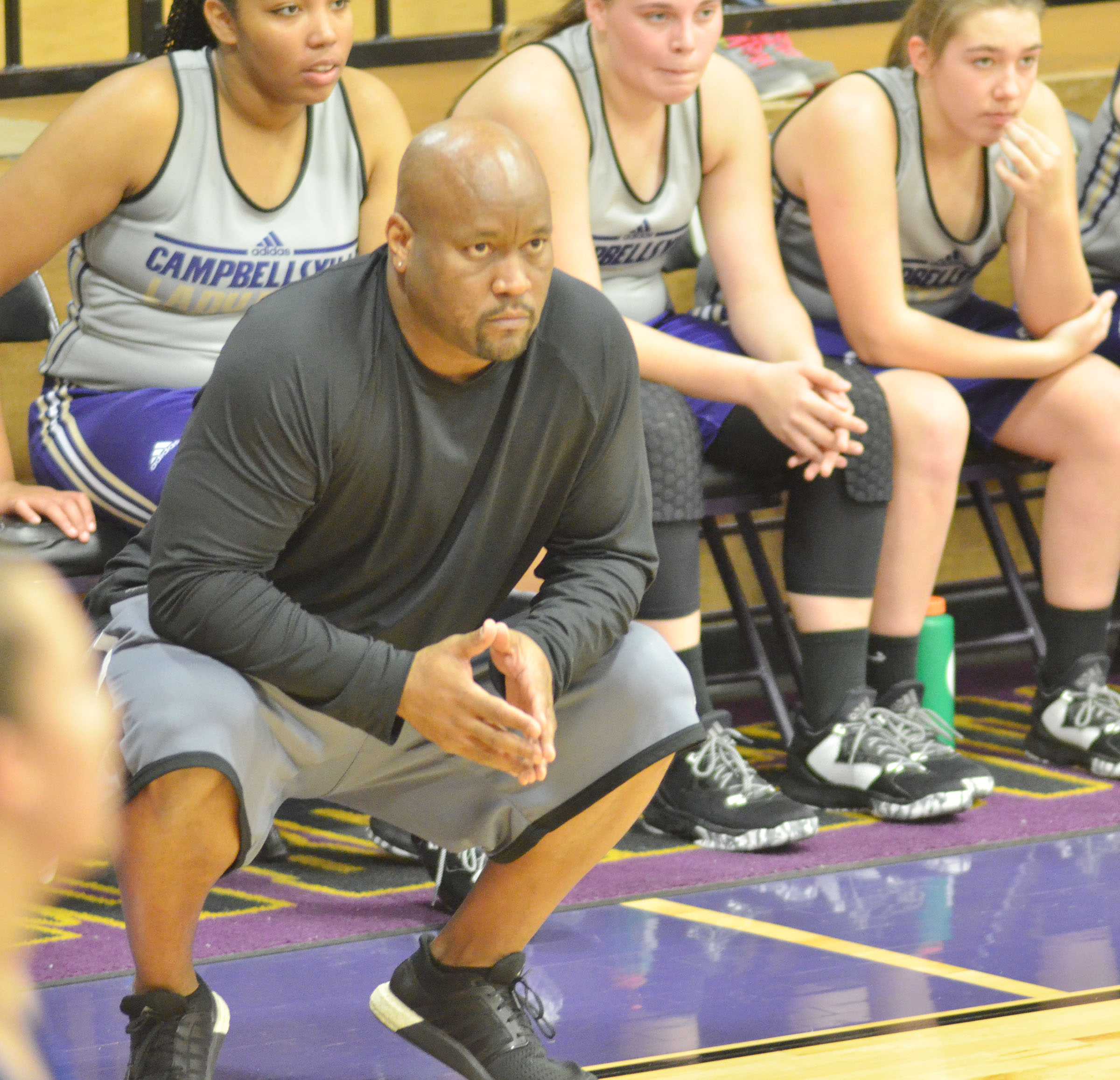 Anthony Epps in his first year as head coach for the CHS girls' team.