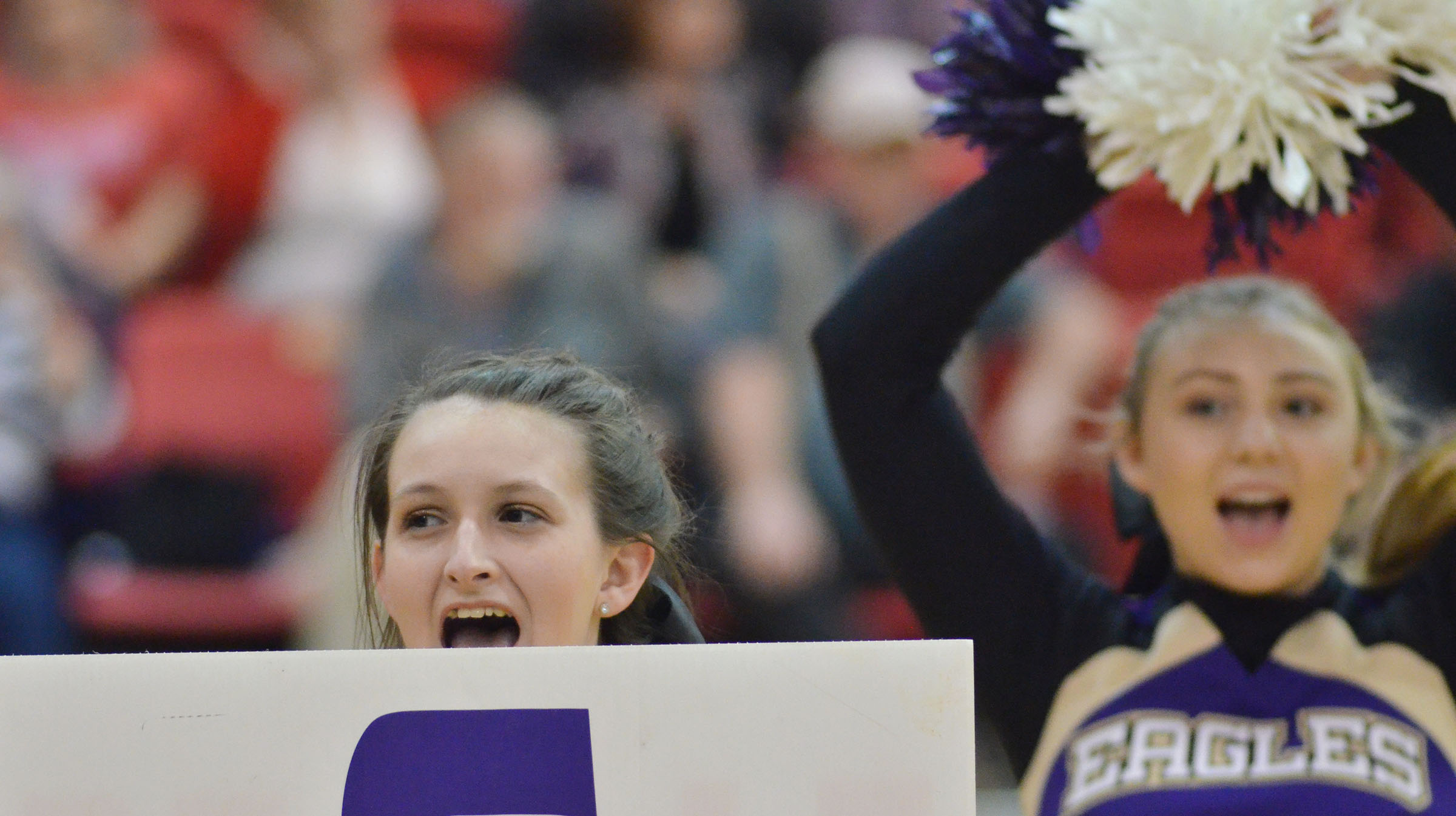 CHS junior Kimberly Harden cheers for the Eagles.