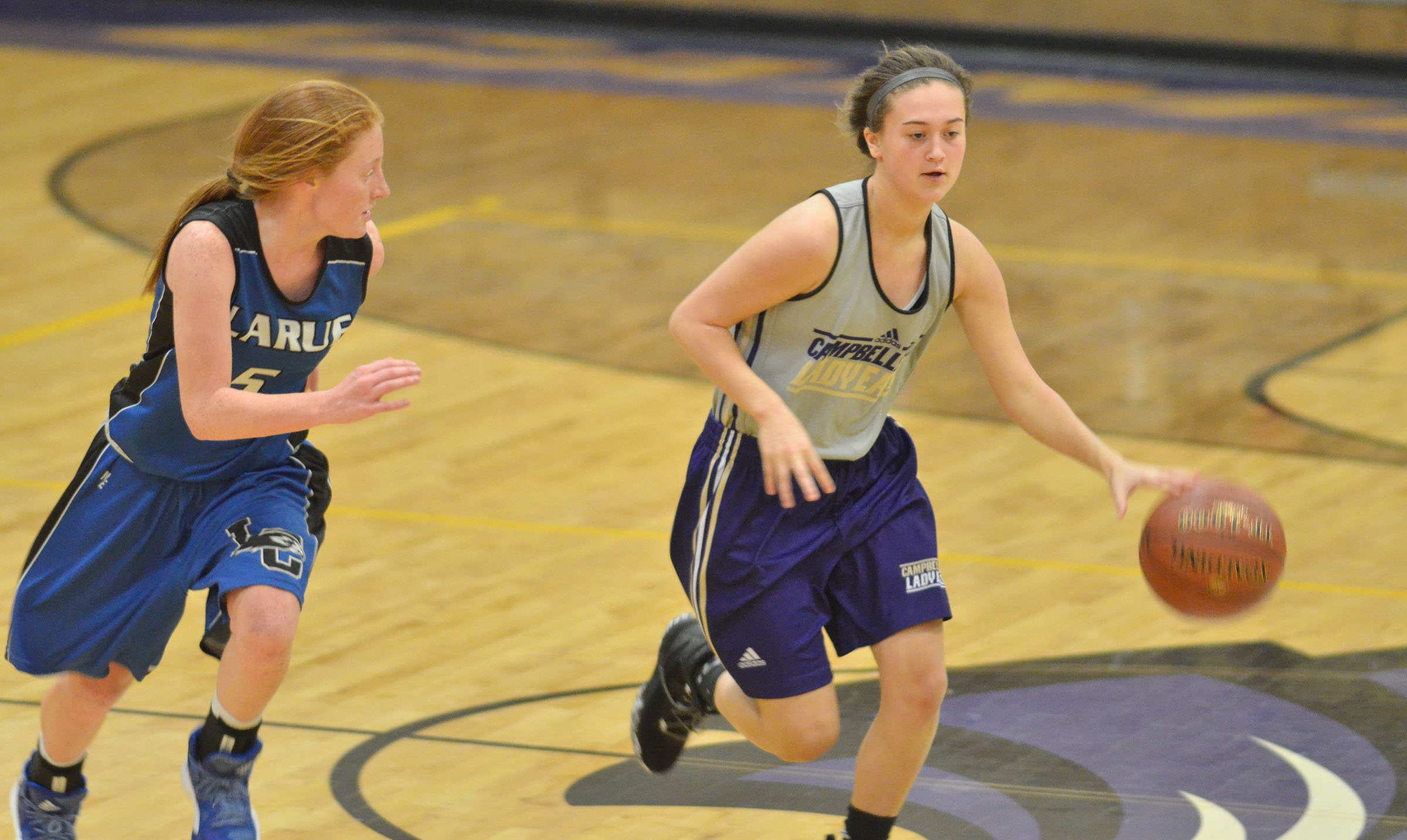 CHS freshman Bailey Thompson dribbles.