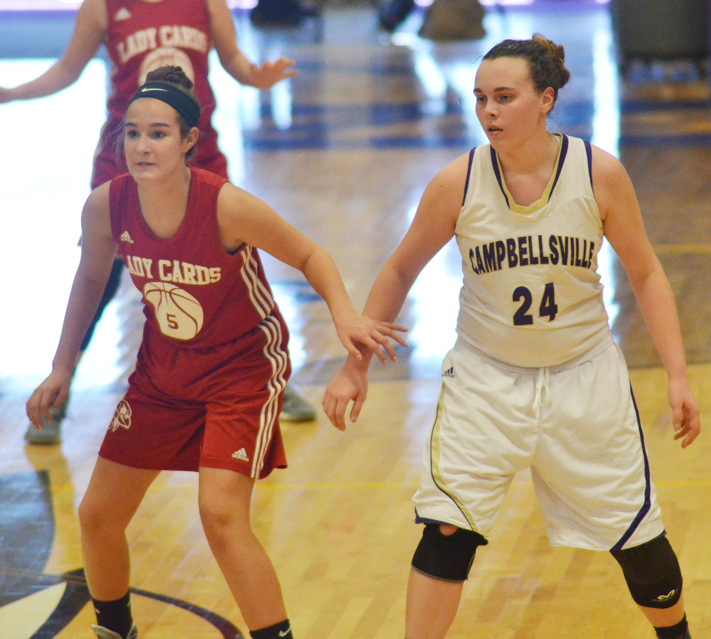 CHS freshman Katelyn Miller plays defense.
