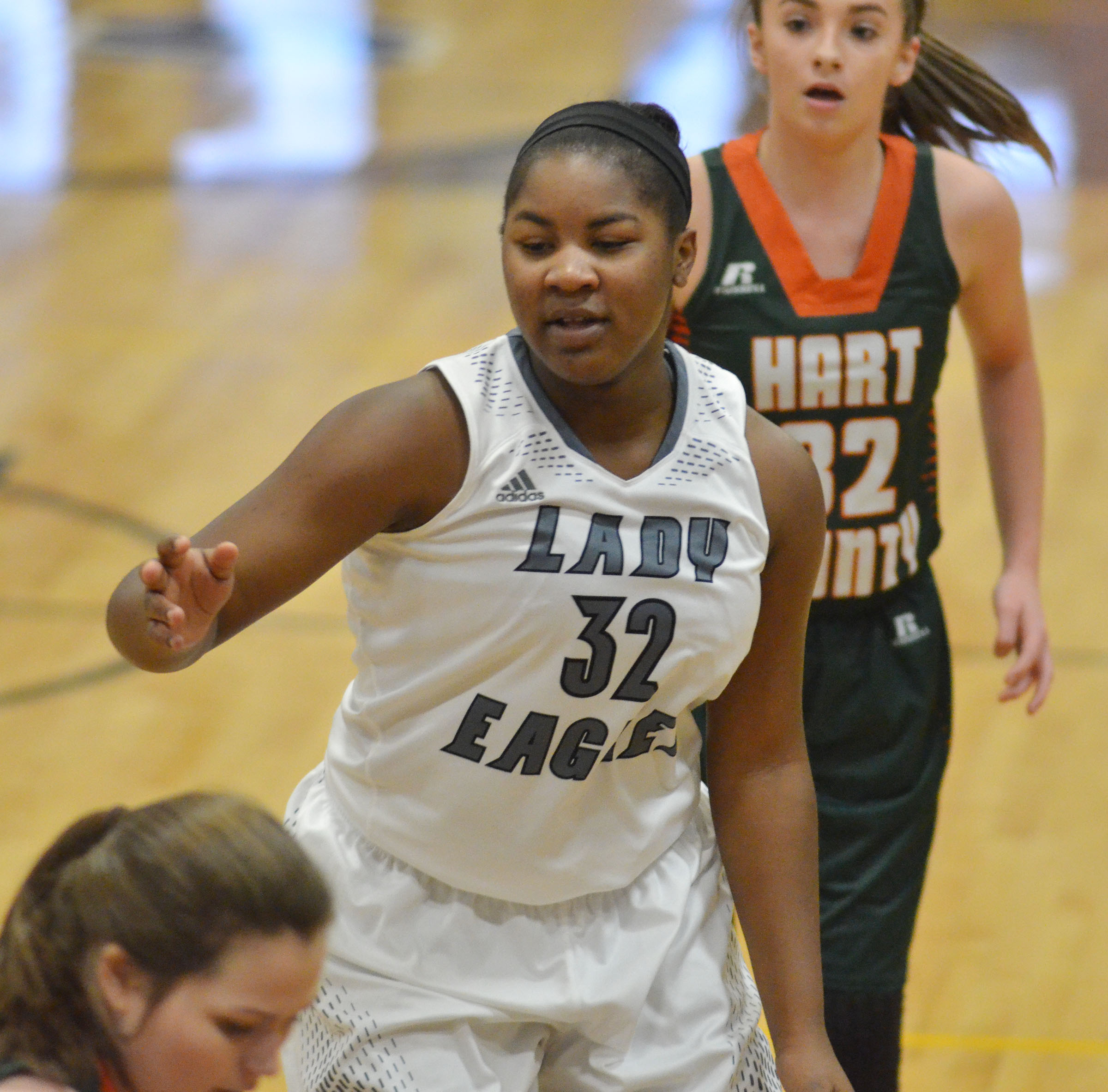 CHS junior Nena Barnett plays defense.