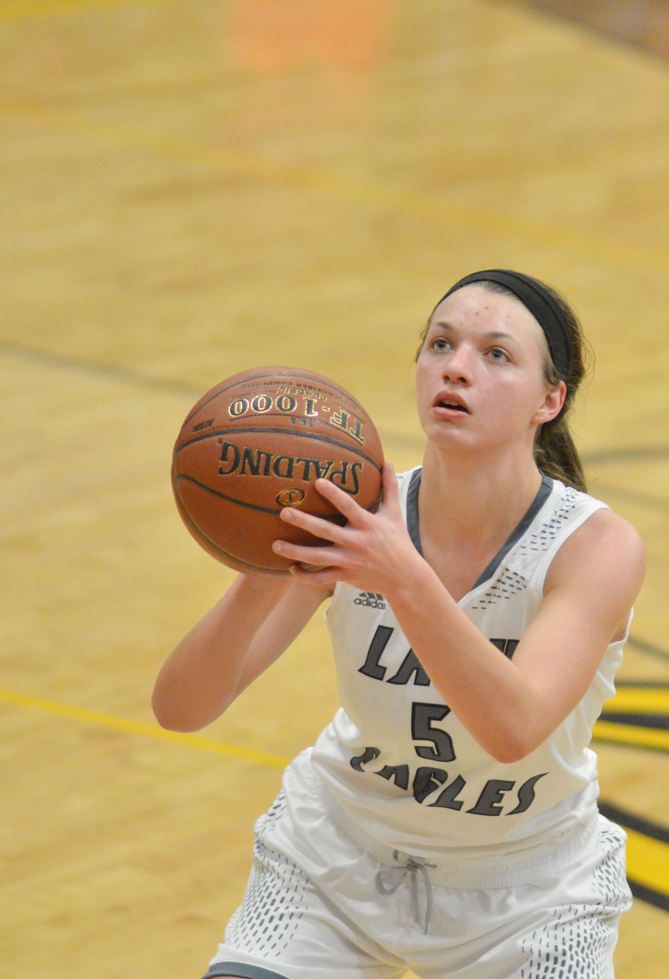 CHS senior Caylie Blair shoots the ball.