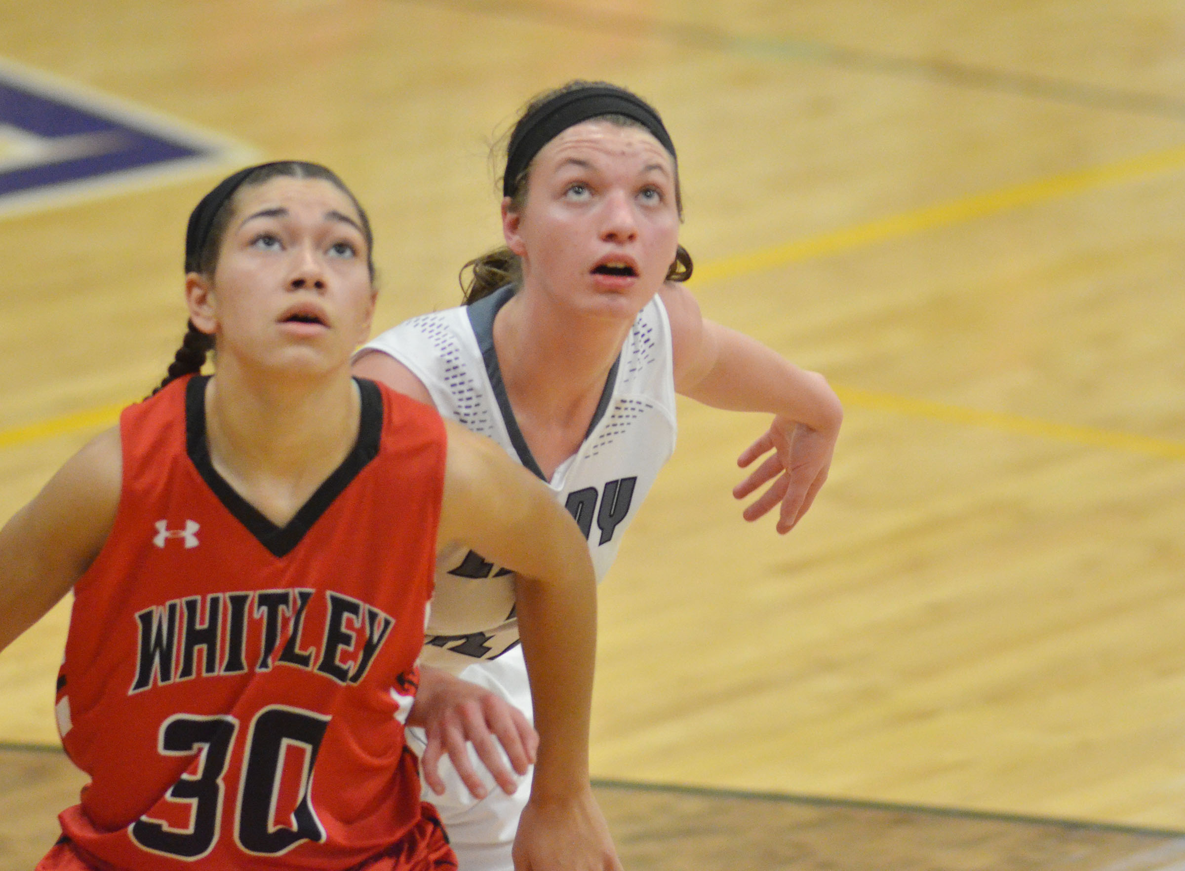 CHS senior Caylie Blair looks for a rebound.