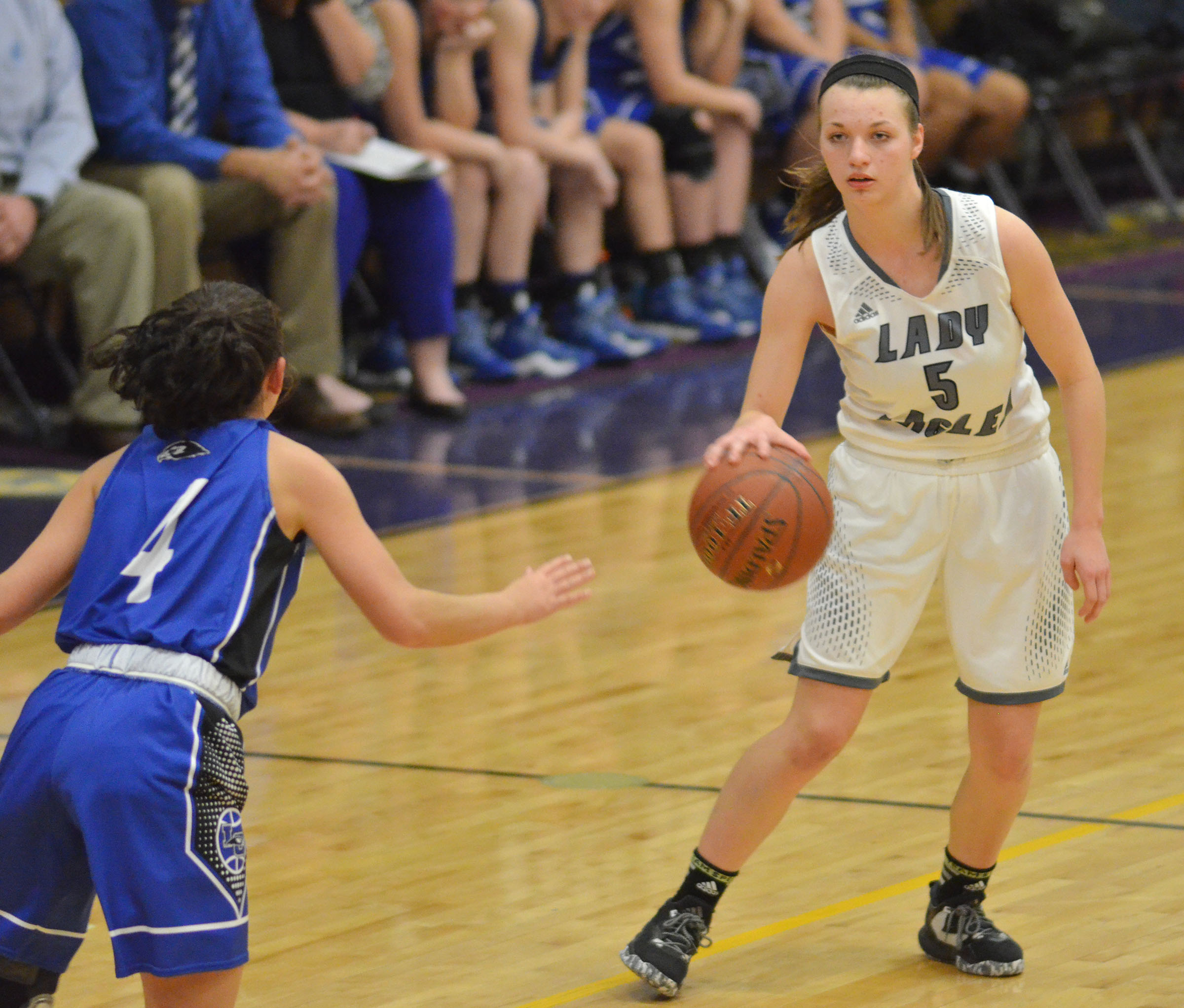 CHS senior Caylie Blair dribbles.