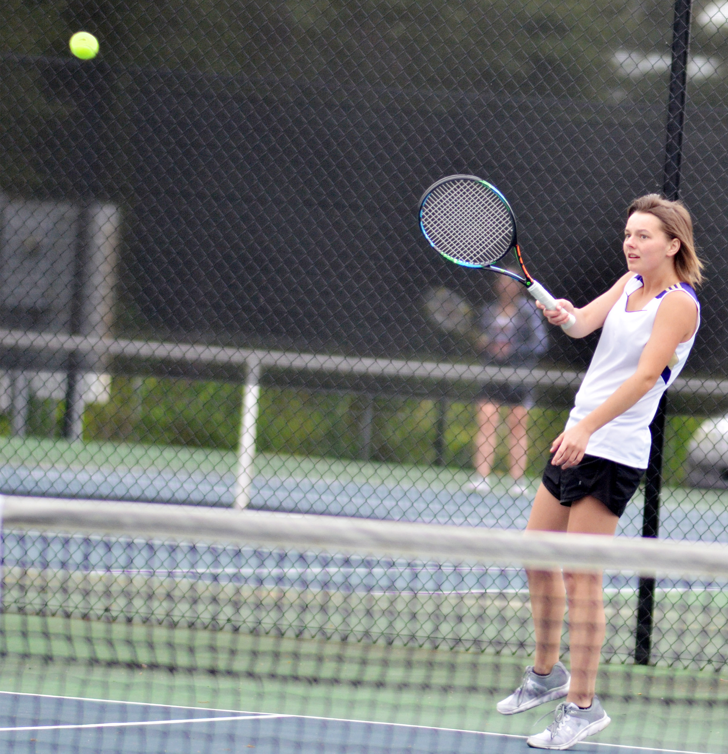 CHS senior Kyrsten Hill hits the ball.