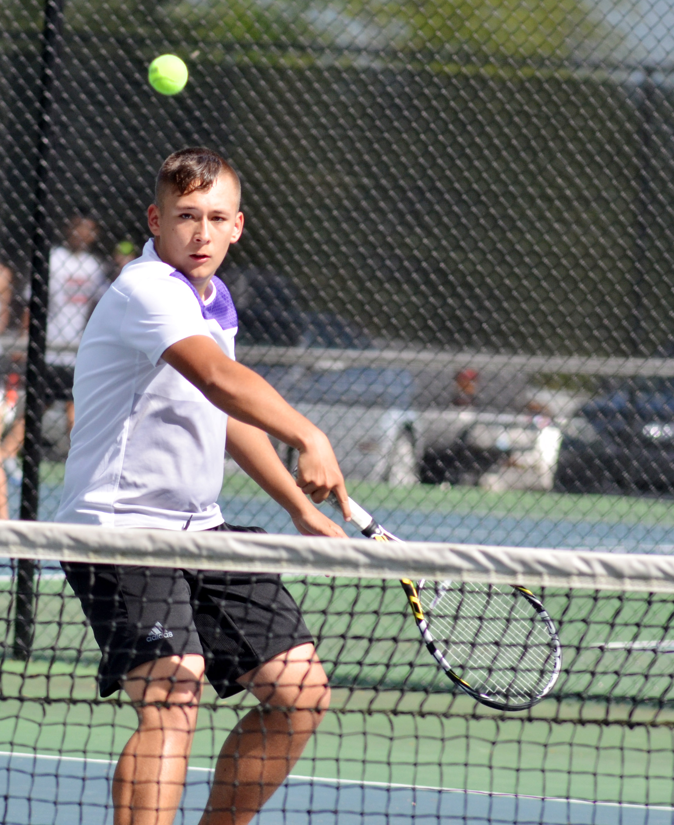 CHS junior Cody Davis hits the ball.