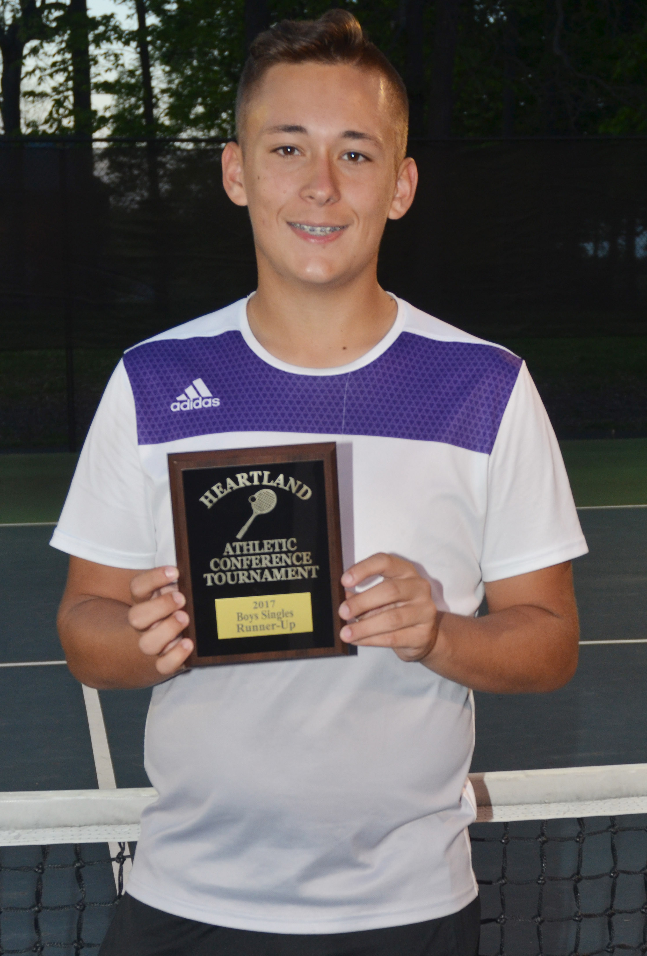 CHS junior Cody Davis was this year's Heartland Conference singles runner-up.