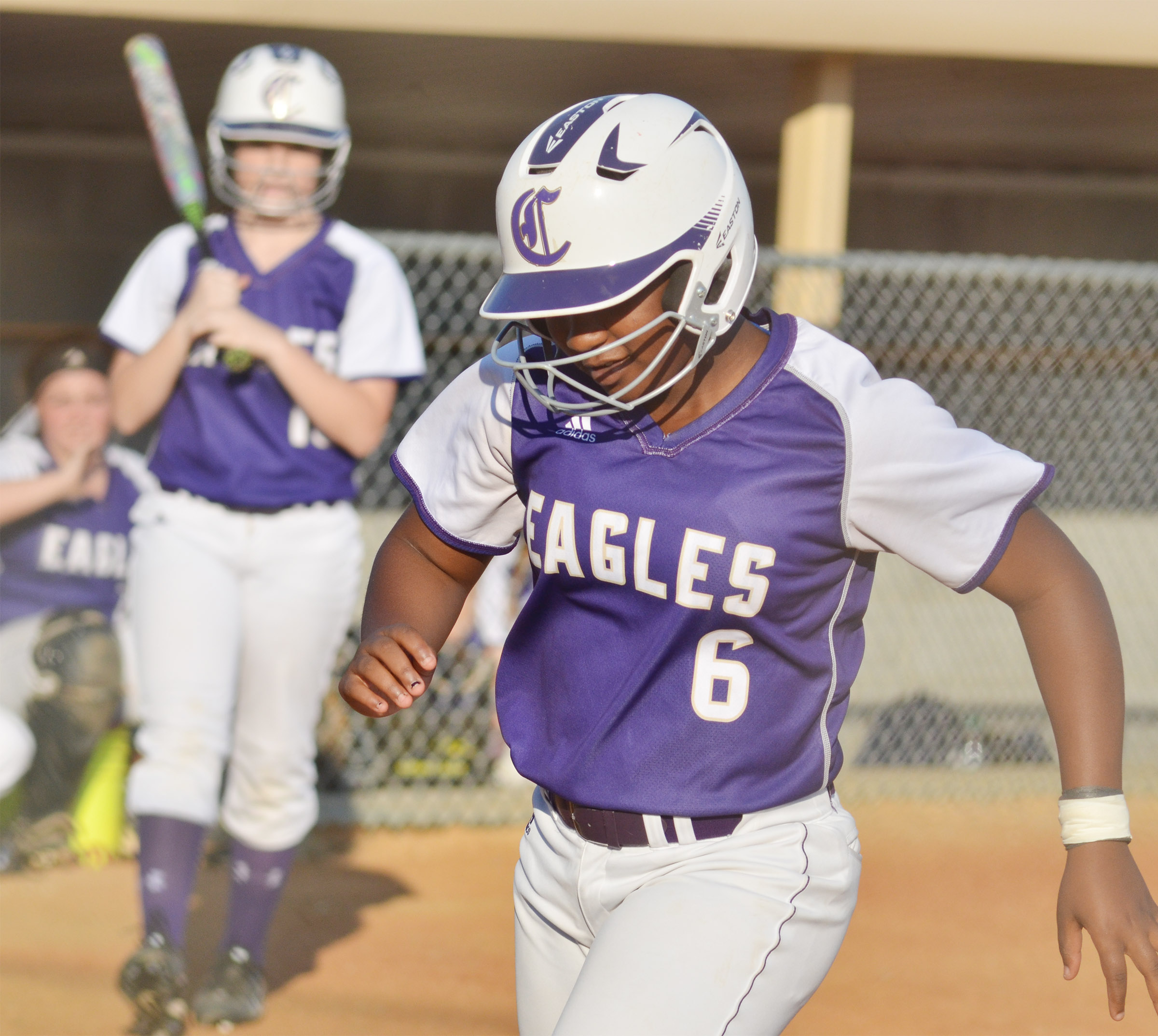 CHS junior Kiyah Barnett scores a run.