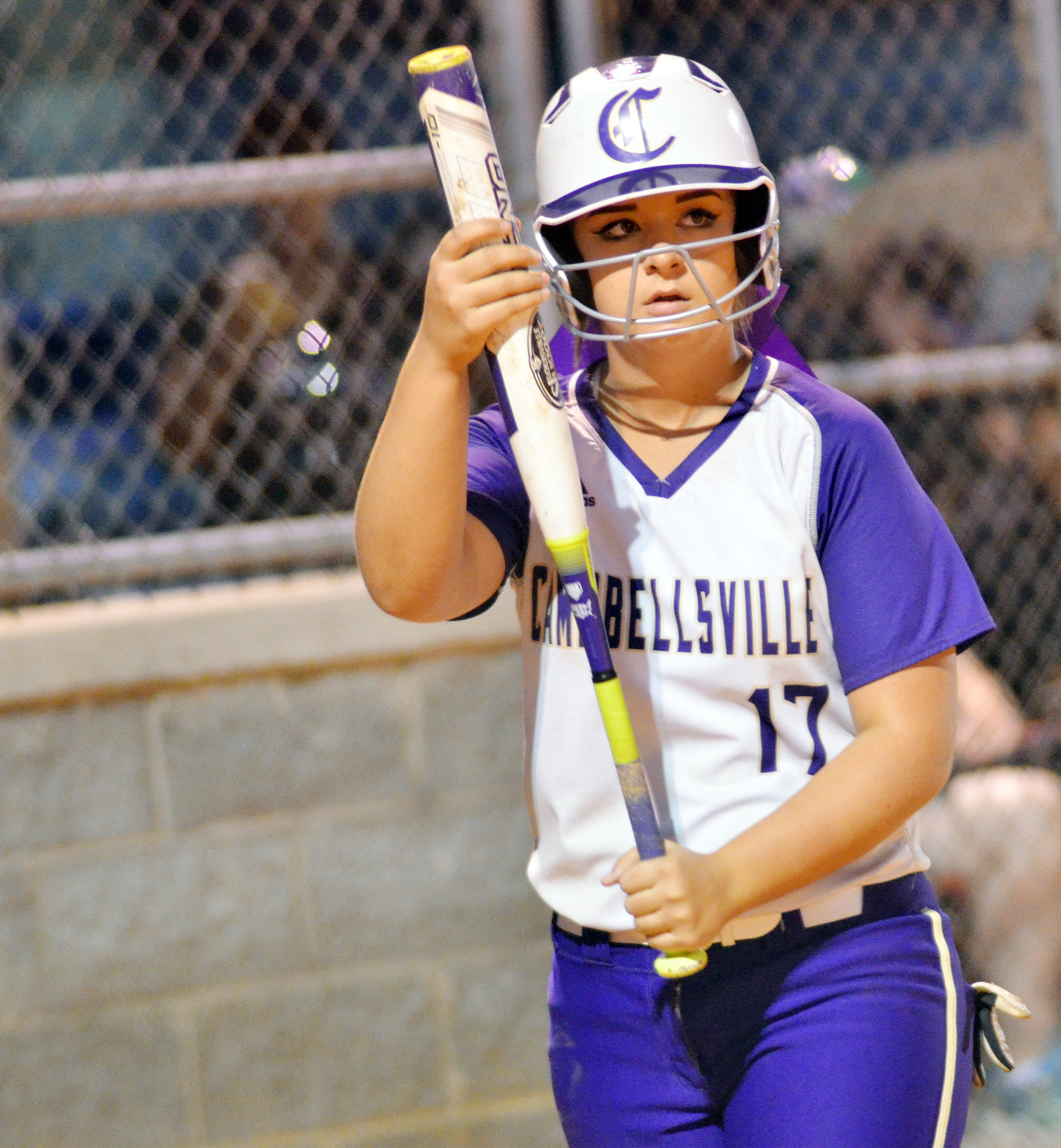 CHS senor Kailey Morris gets set to bat.