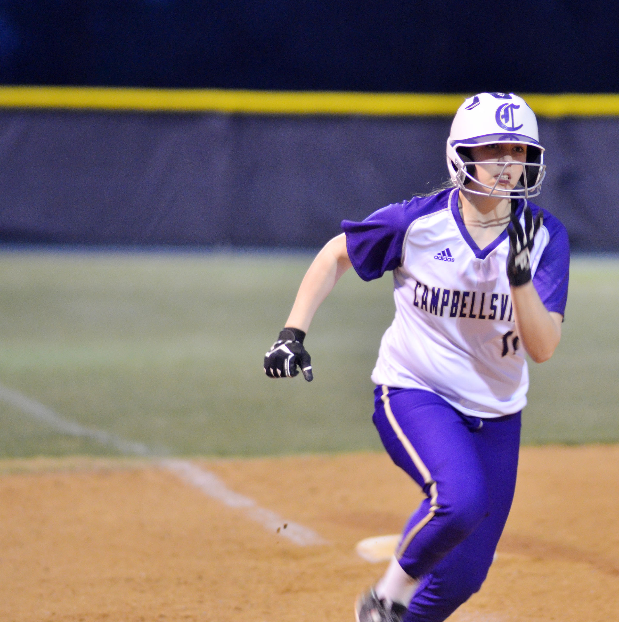 Campbellsville Middle School eighth-grader Abi Wiedewitsch runs home.