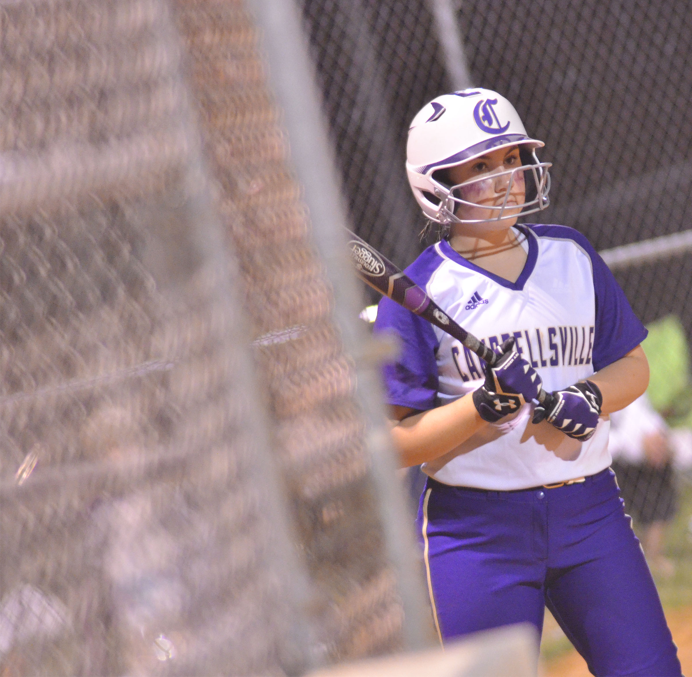 CHS freshman Lauryn Agathen waits to bat.