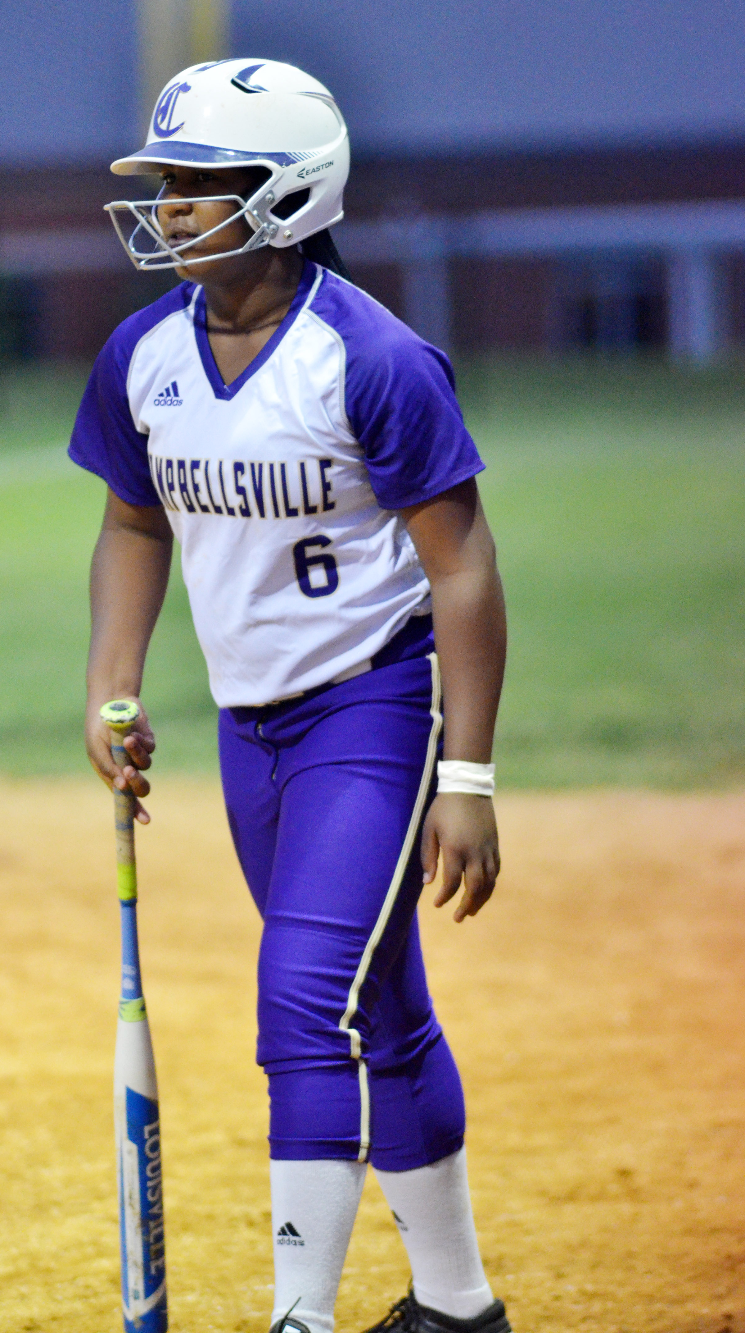 CHS junior Kiyah Barnett gets set to bat.