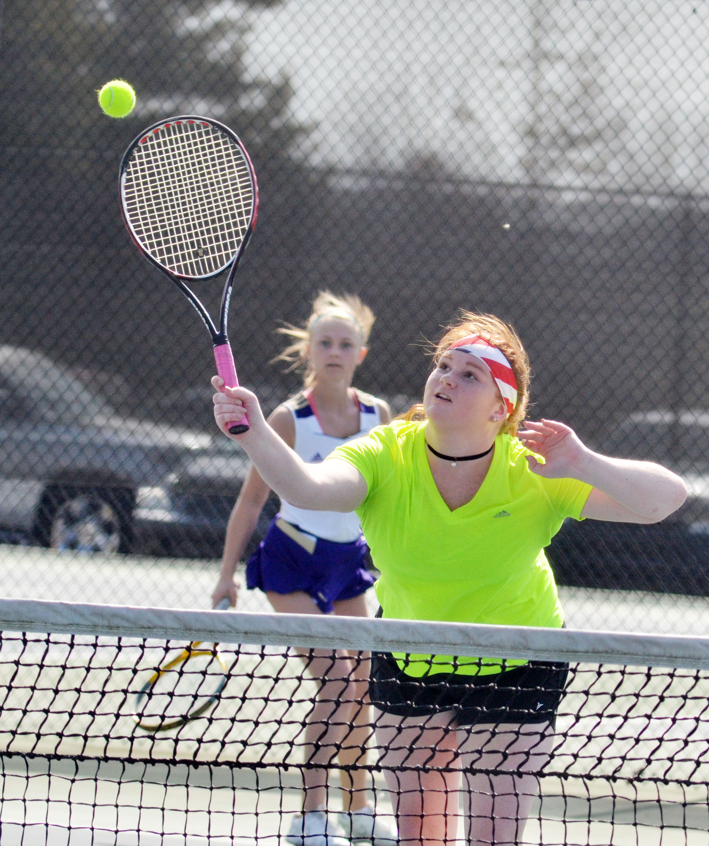 CHS senior Mallory Haley hits the ball.