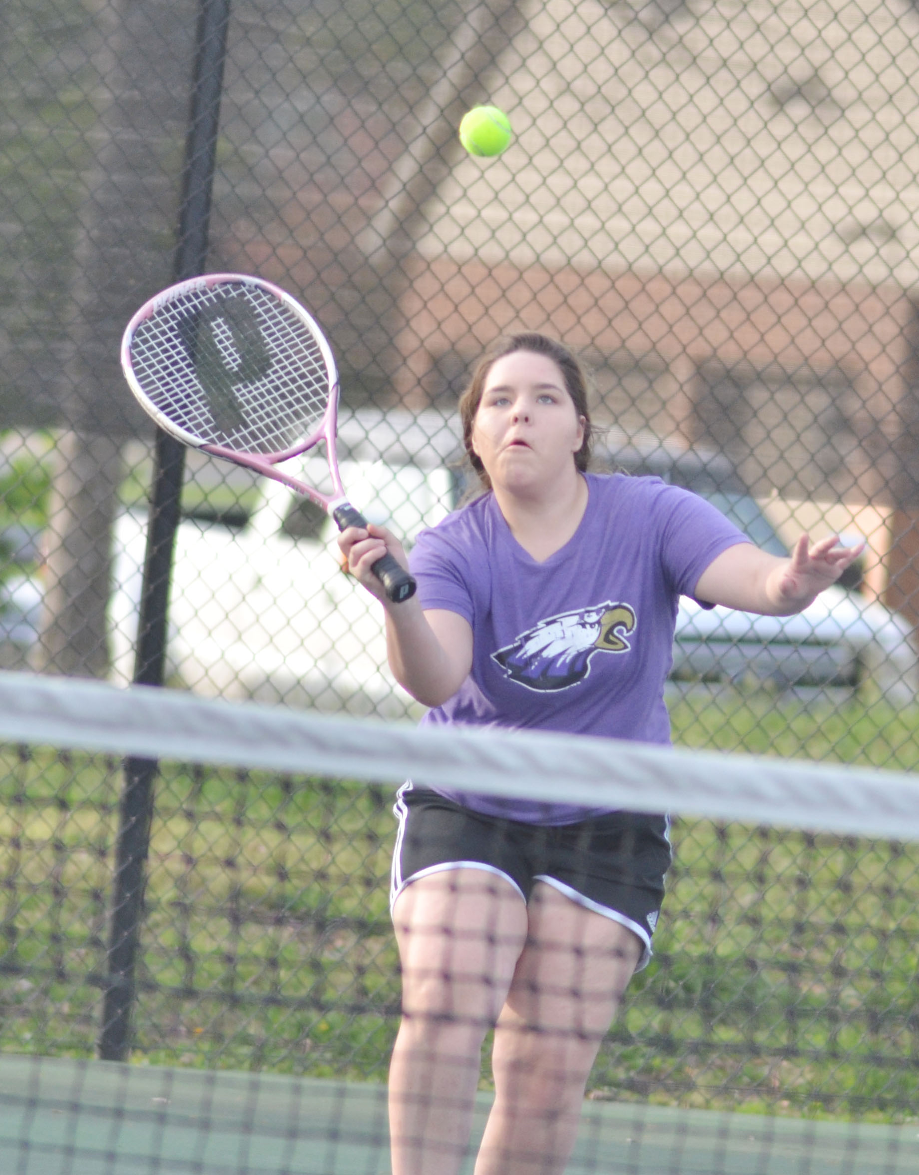 CHS junior Sara Farmer hits the ball.