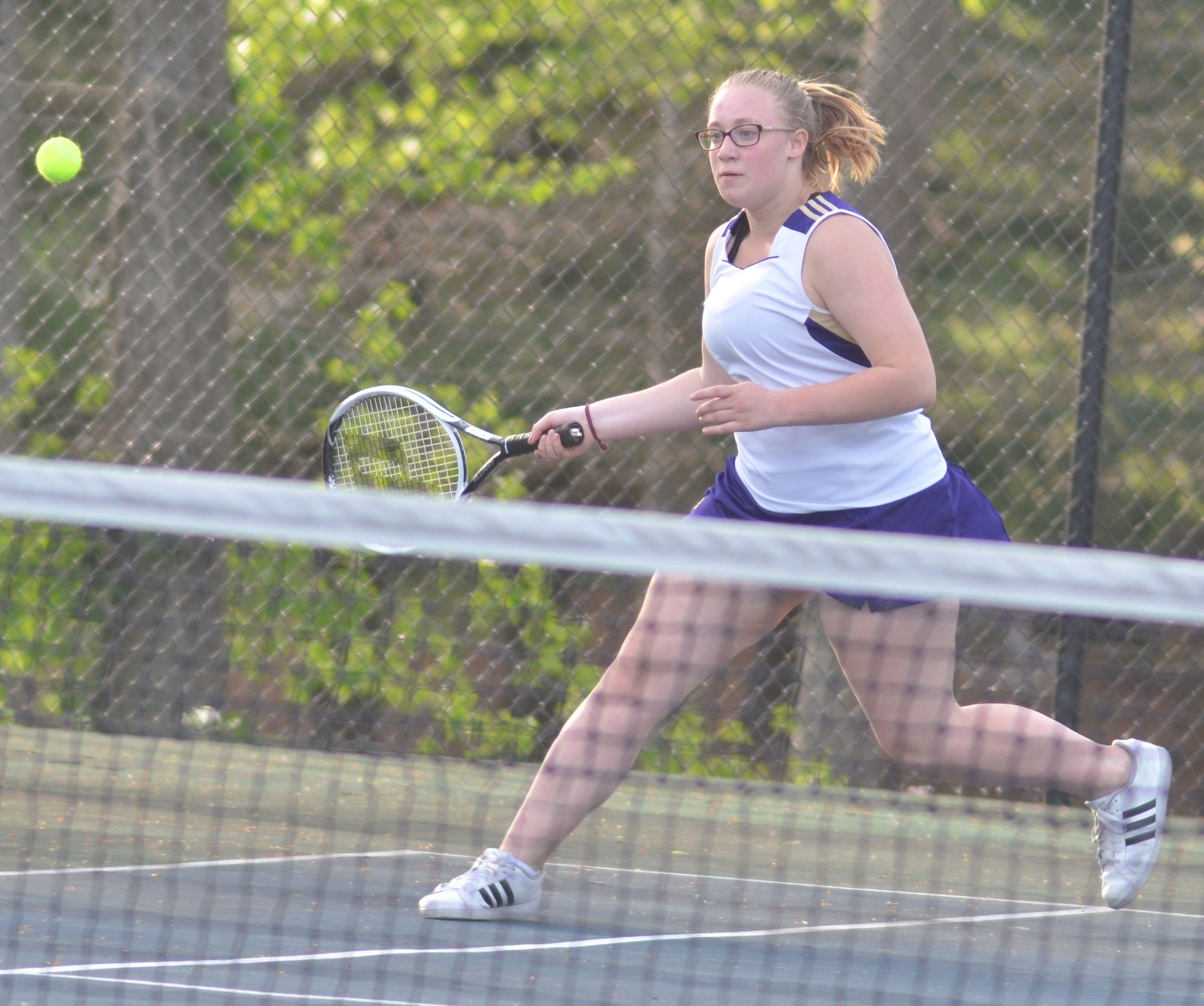 CHS freshman Samantha Johnson hits the ball.