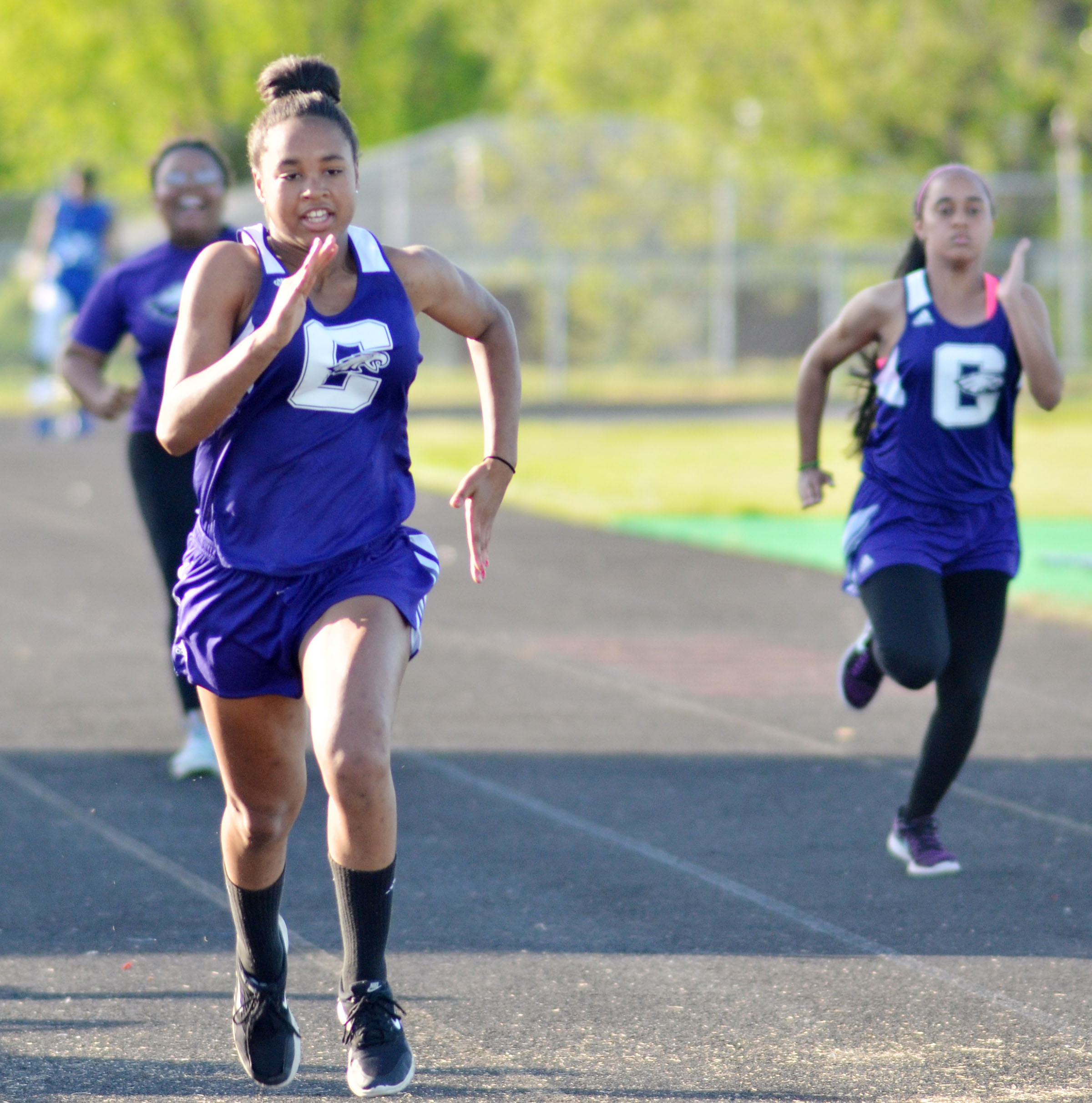 CHS freshman Isis Coleman finished third in the 100-meter dash.