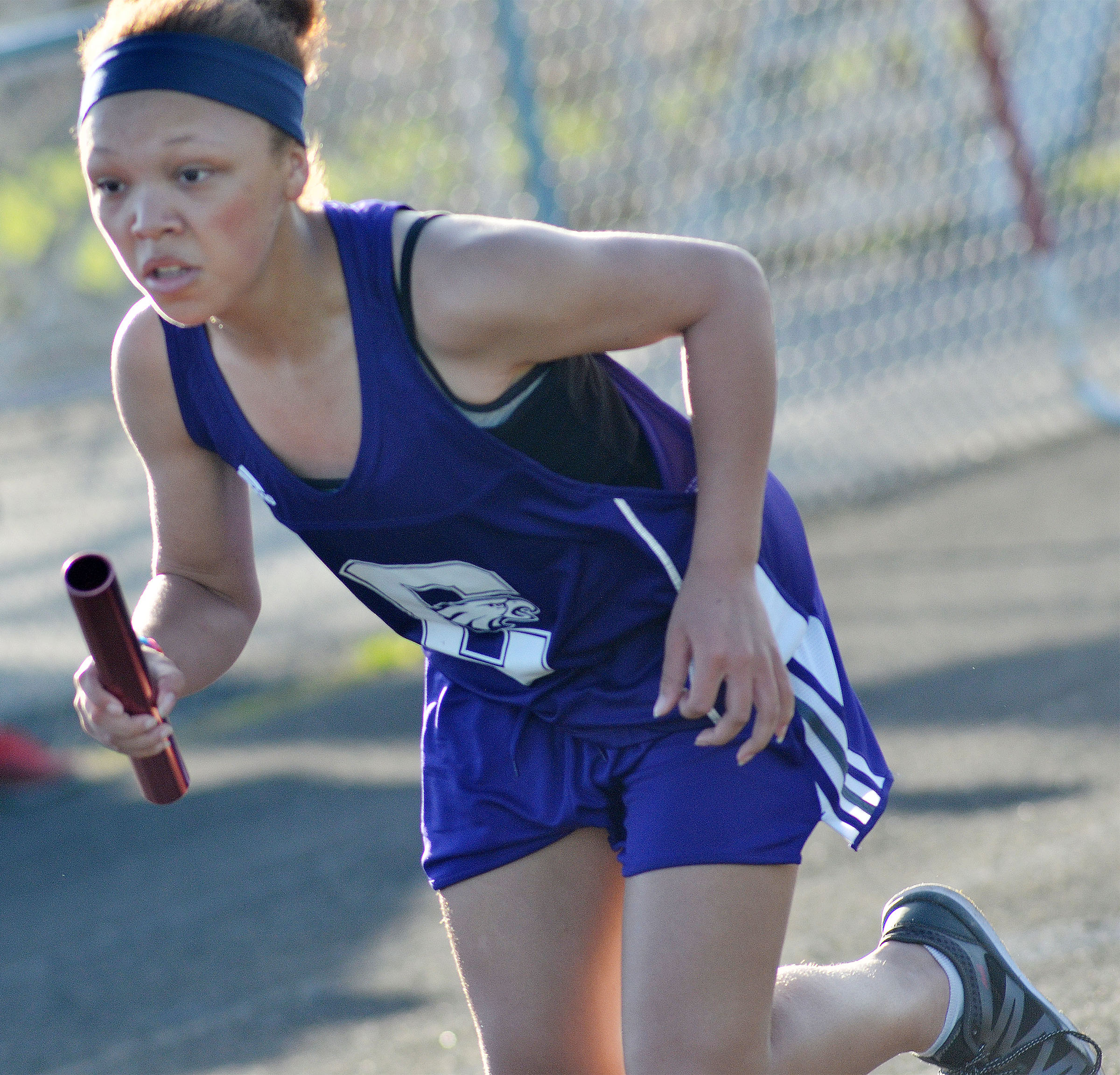 Campbellsville Middle School seventh-grader Kitana Taylor starts her run.
