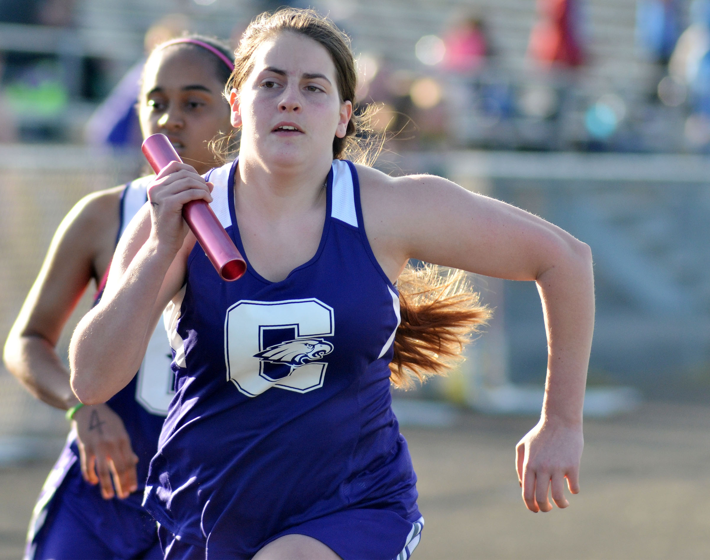 CHS sophomore Lauren Williams runs.