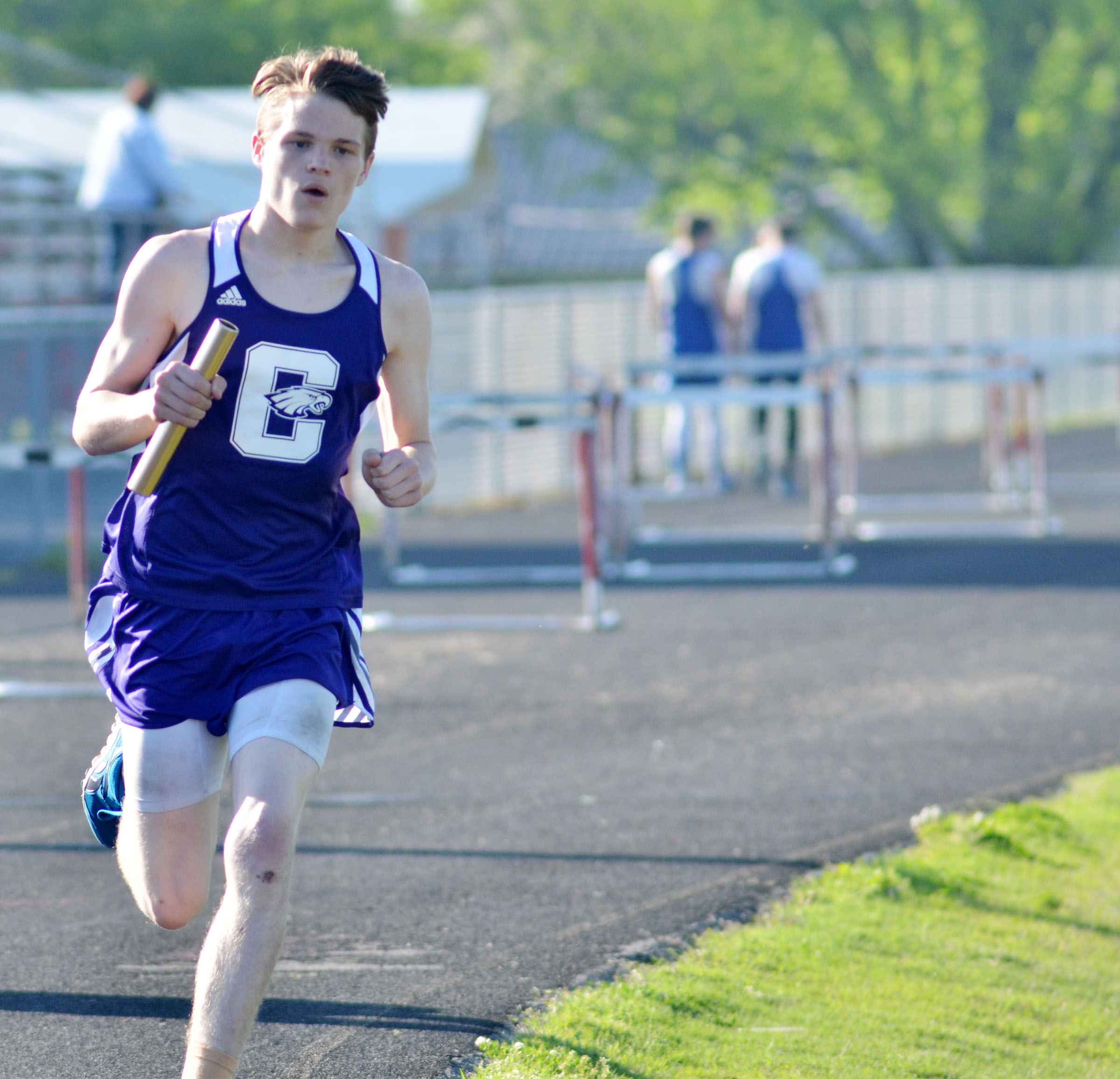 CHS sophomore Joe Pipes runs.