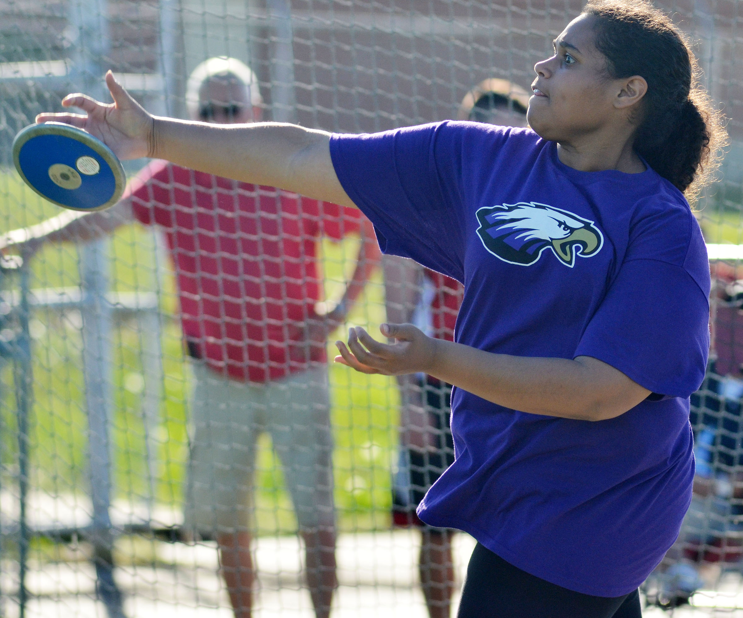 CHS freshman Siera Owens throws shot put.