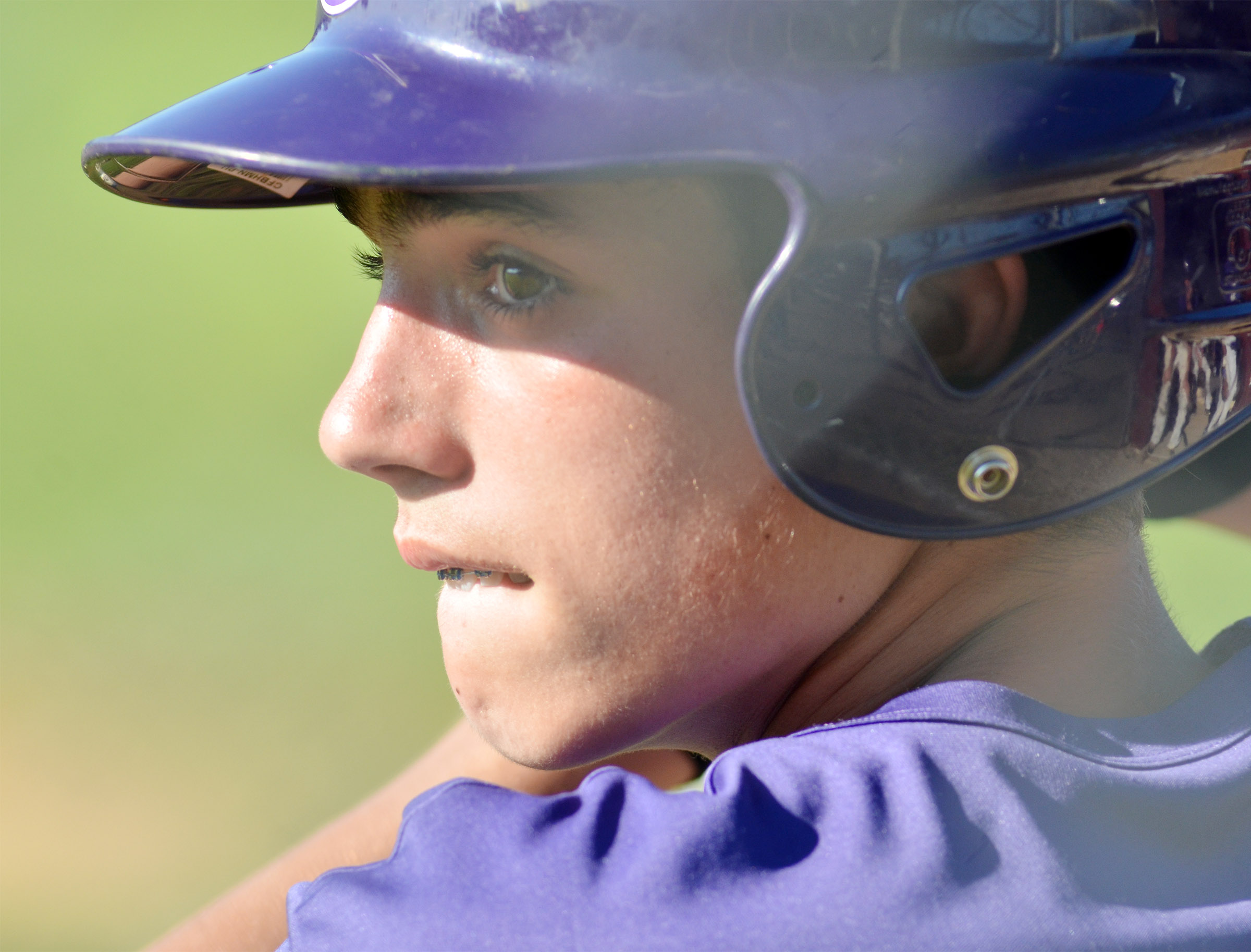 CMS eighth-grader Kameron Smith waits to bat.