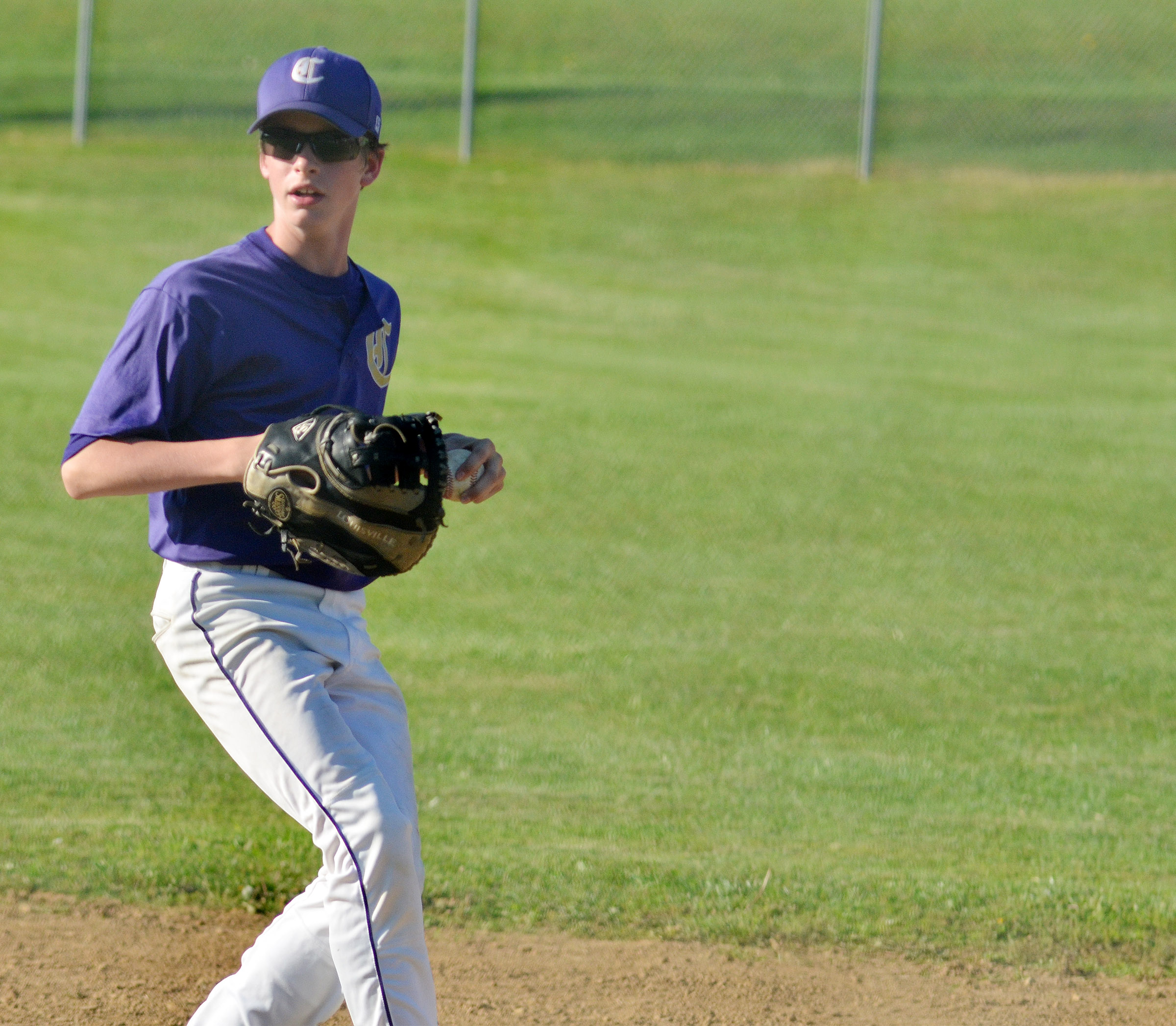 CMS seventh-grader Seth Hash throws the ball.