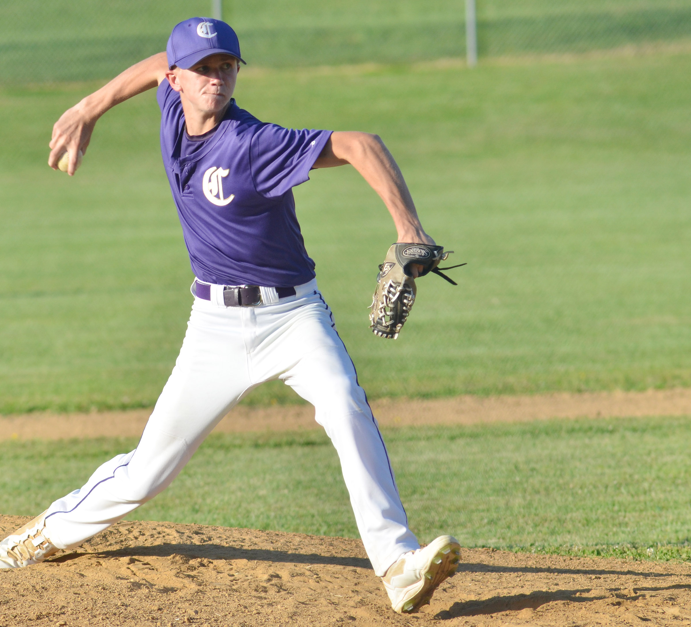 CMS eighth-grader Blase Wheatley pitches.