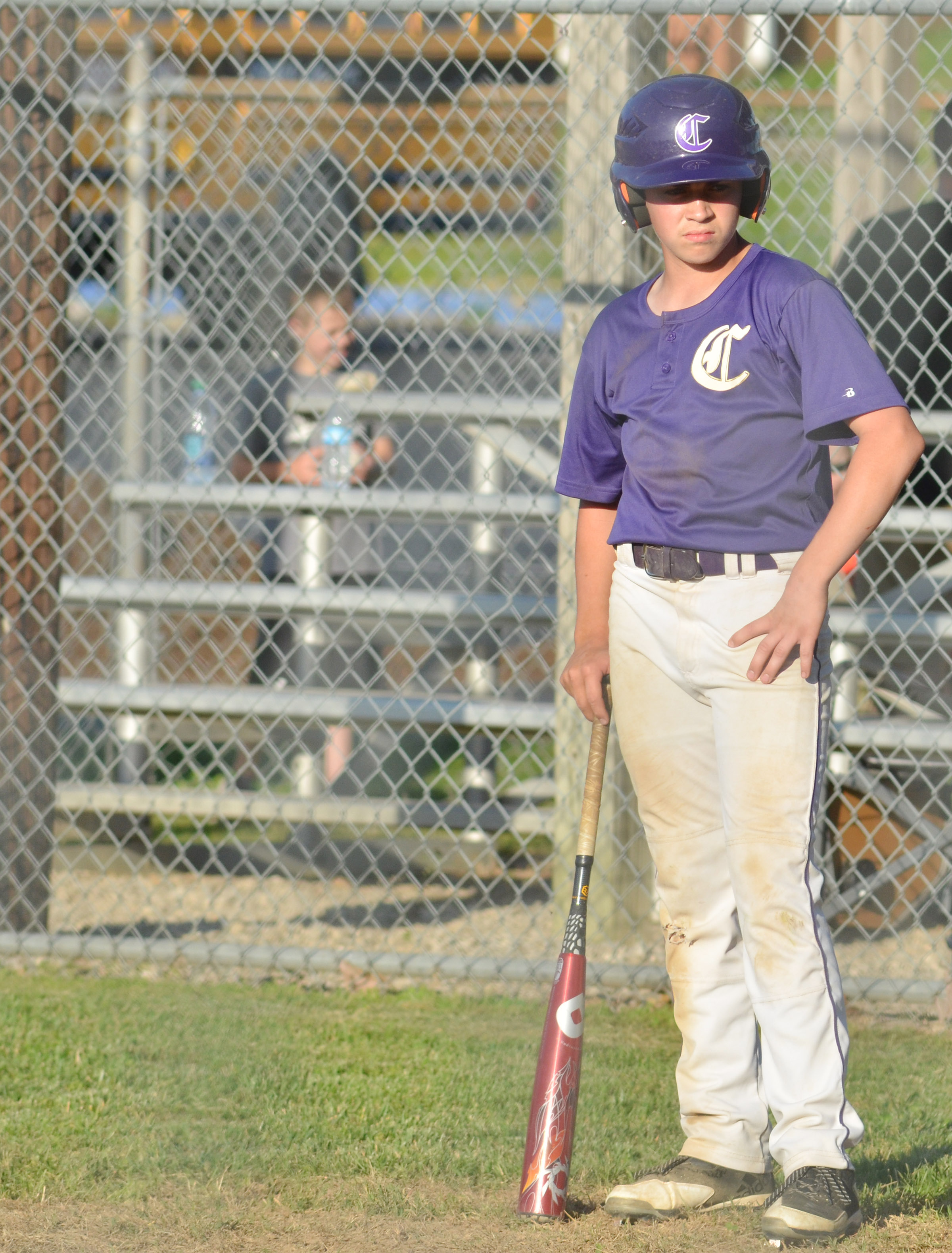 CMS eighth-grader Clark Kidwell waits to bat.