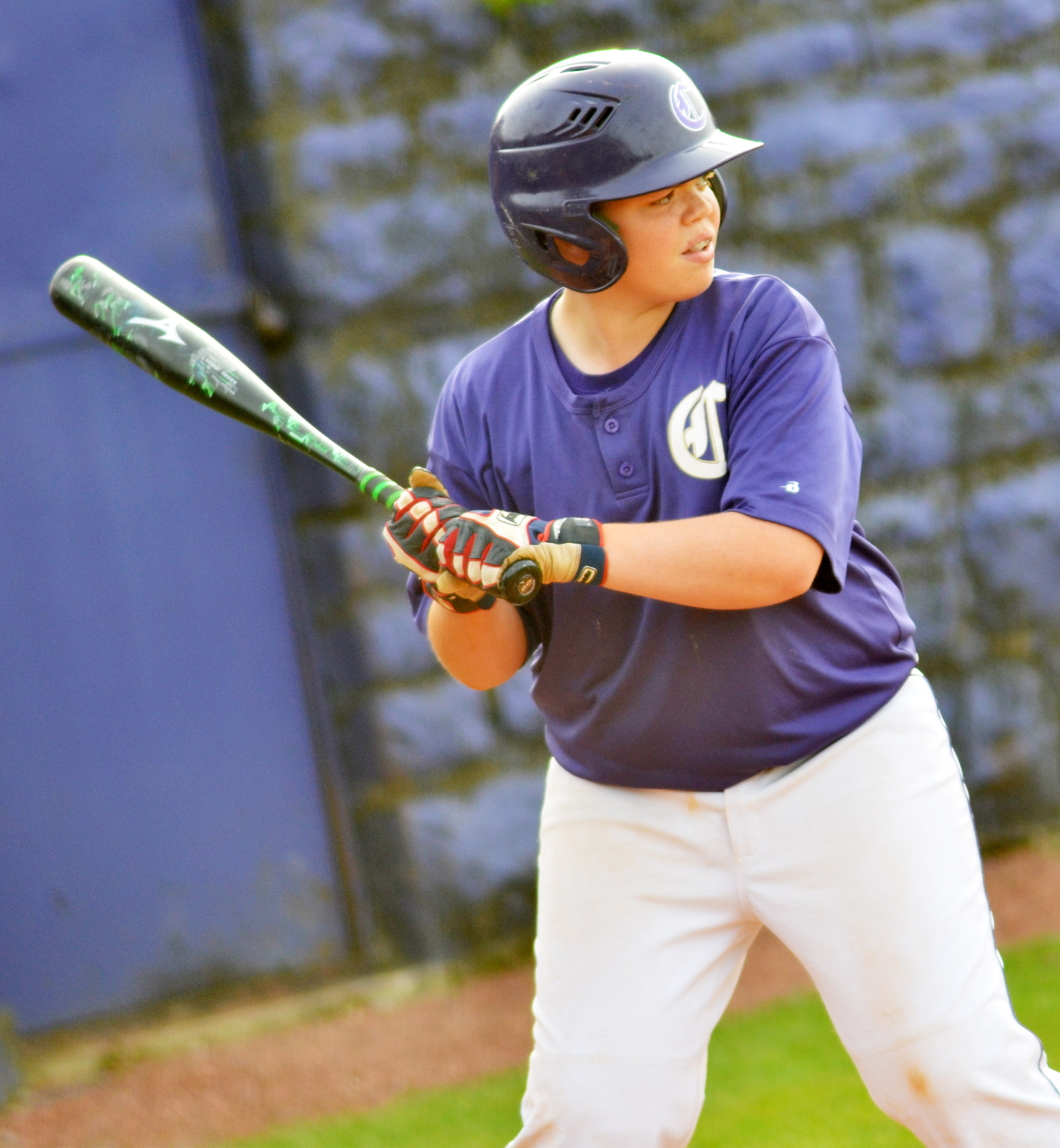 CMS sixth-grader Hayden Jones bats.